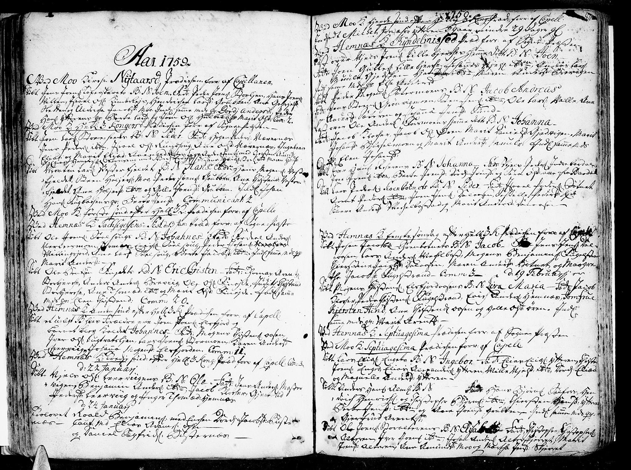 SAT, Ministerialprotokoller, klokkerbøker og fødselsregistre - Nordland, 825/L0348: Ministerialbok nr. 825A04, 1752-1788, s. 80