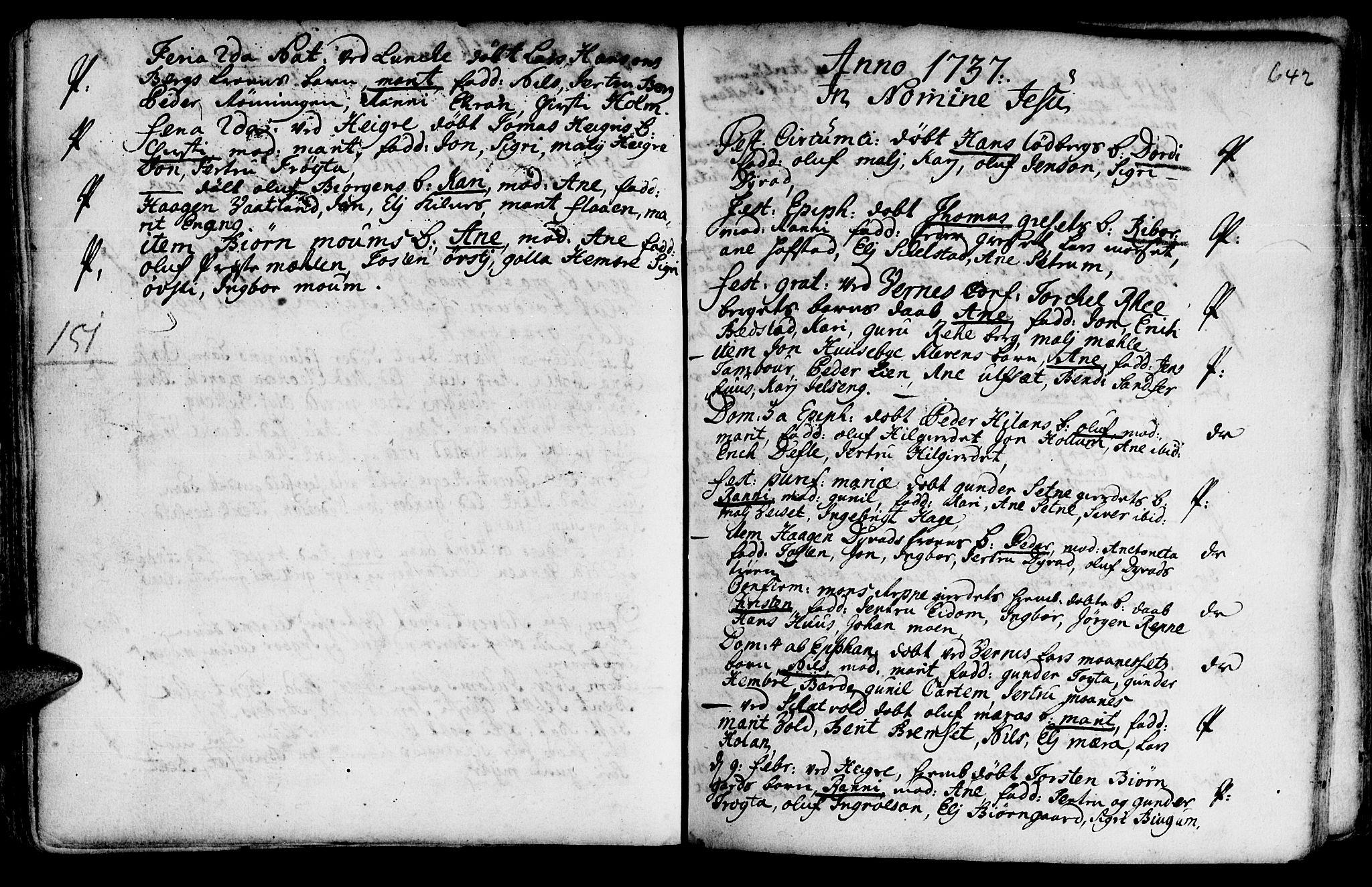 SAT, Ministerialprotokoller, klokkerbøker og fødselsregistre - Nord-Trøndelag, 709/L0055: Ministerialbok nr. 709A03, 1730-1739, s. 641-642