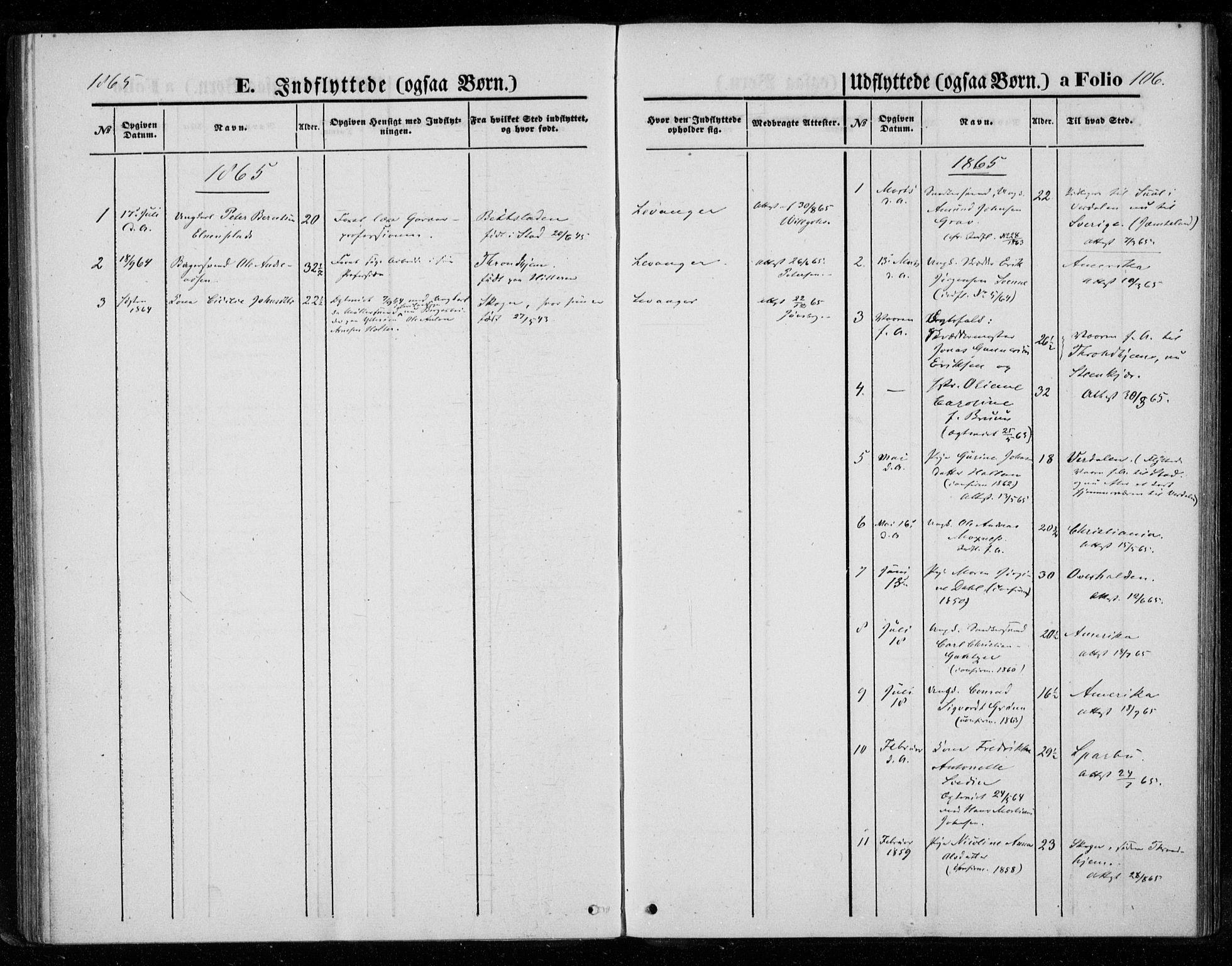 SAT, Ministerialprotokoller, klokkerbøker og fødselsregistre - Nord-Trøndelag, 720/L0186: Ministerialbok nr. 720A03, 1864-1874, s. 106