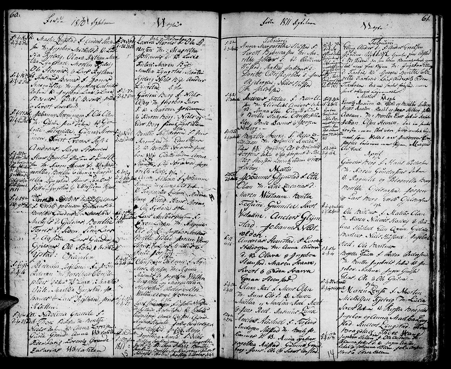 SAT, Ministerialprotokoller, klokkerbøker og fødselsregistre - Nord-Trøndelag, 730/L0274: Ministerialbok nr. 730A03, 1802-1816, s. 60-61