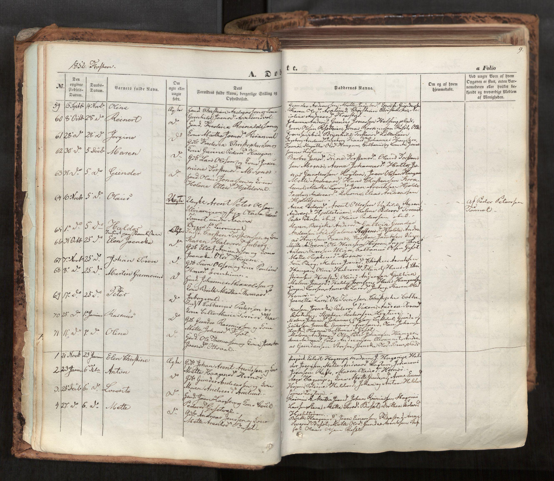 SAT, Ministerialprotokoller, klokkerbøker og fødselsregistre - Nord-Trøndelag, 713/L0116: Ministerialbok nr. 713A07, 1850-1877, s. 9