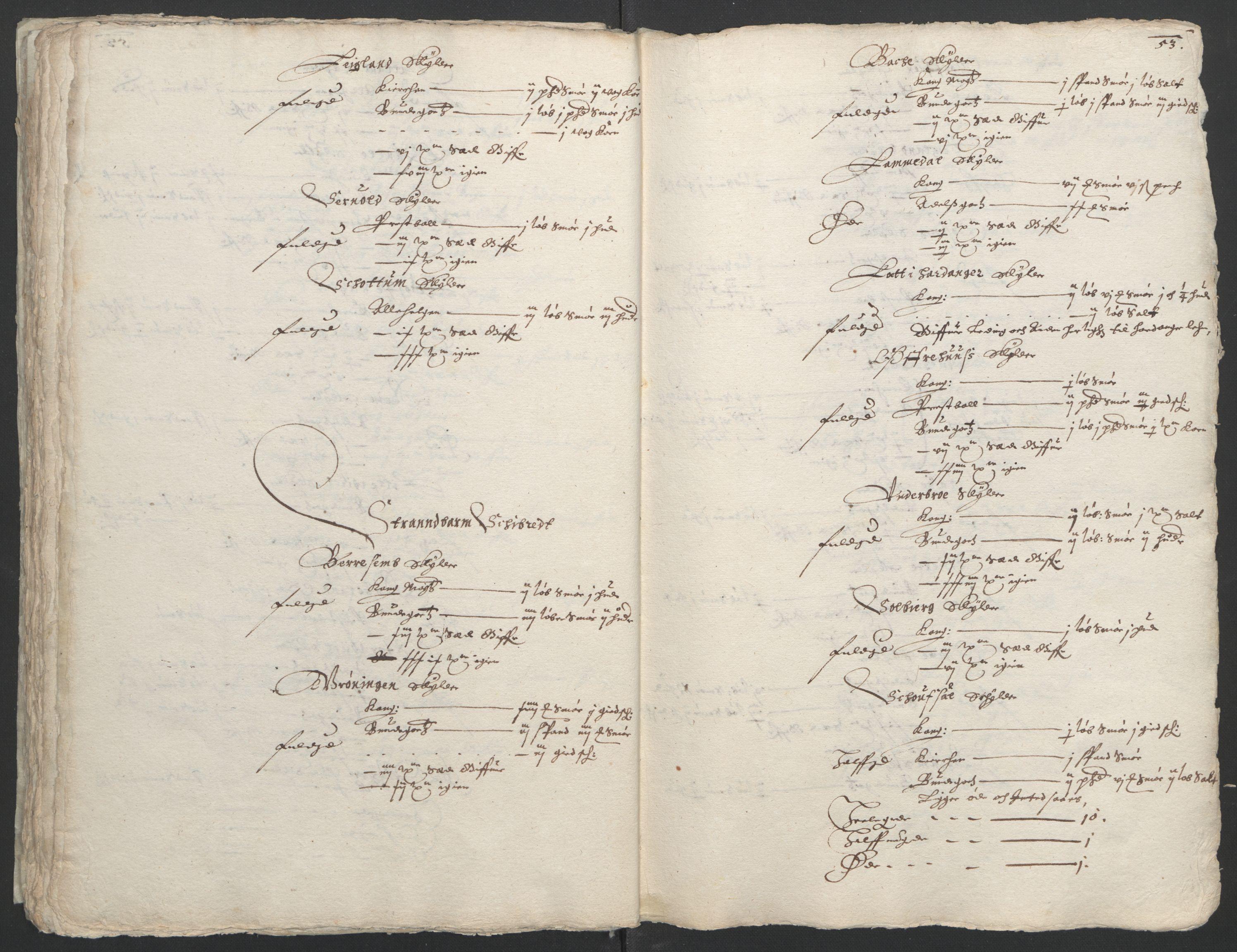 RA, Stattholderembetet 1572-1771, Ek/L0004: Jordebøker til utlikning av garnisonsskatt 1624-1626:, 1626, s. 57
