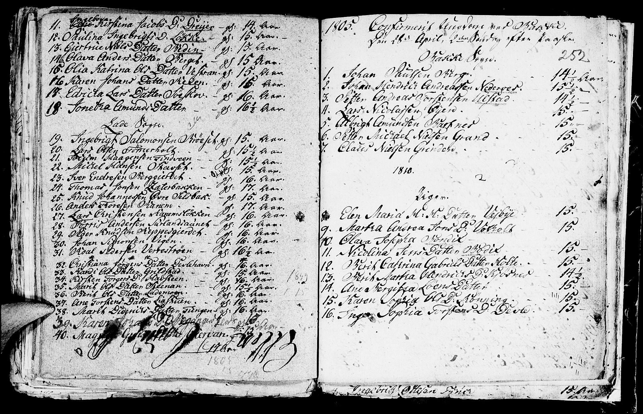 SAT, Ministerialprotokoller, klokkerbøker og fødselsregistre - Sør-Trøndelag, 604/L0218: Klokkerbok nr. 604C01, 1754-1819, s. 252