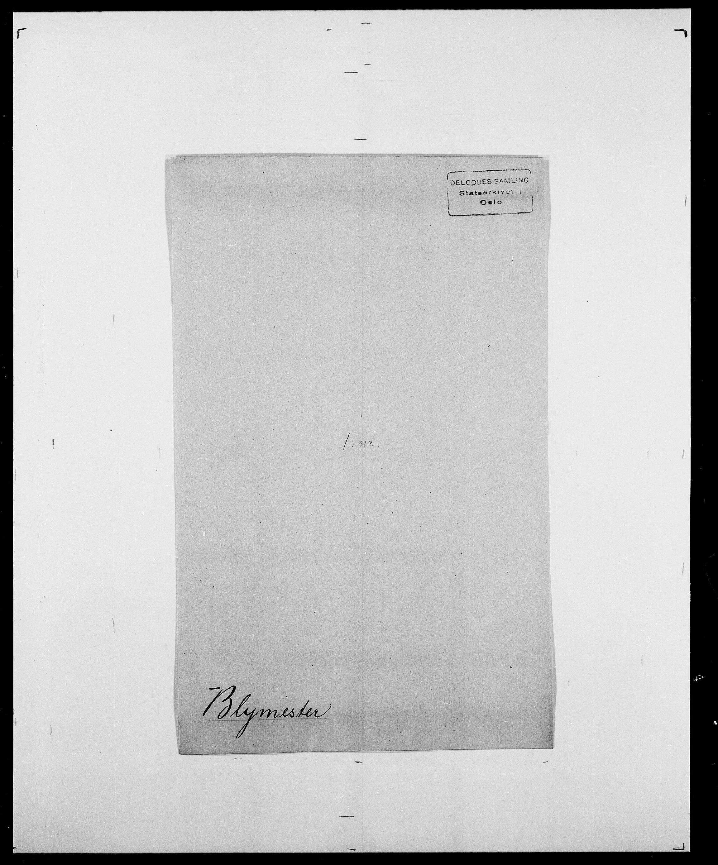 SAO, Delgobe, Charles Antoine - samling, D/Da/L0004: Bergendahl - Blære, s. 803