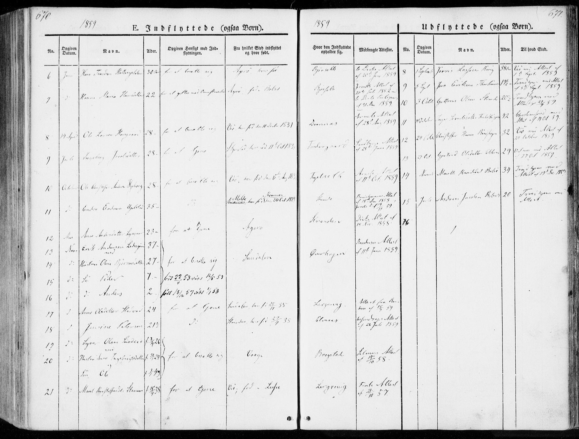 SAT, Ministerialprotokoller, klokkerbøker og fødselsregistre - Møre og Romsdal, 555/L0653: Ministerialbok nr. 555A04, 1843-1869, s. 670-671