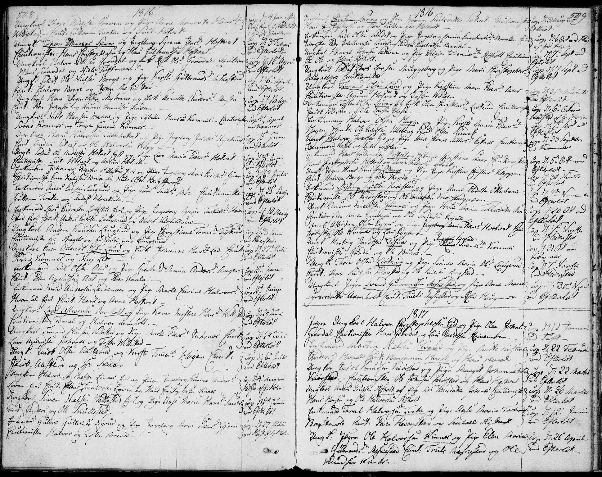 SAKO, Sandsvær kirkebøker, F/Fa/L0003: Ministerialbok nr. I 3, 1809-1817, s. 508-509