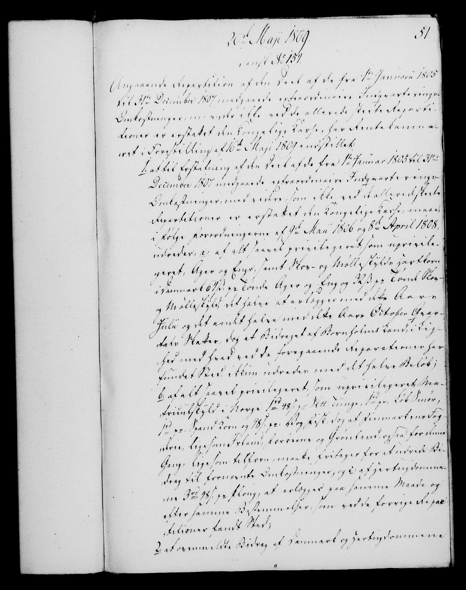 RA, Rentekammeret, Kammerkanselliet, G/Gf/Gfa/L0091: Norsk relasjons- og resolusjonsprotokoll (merket RK 52.91), 1809, s. 219