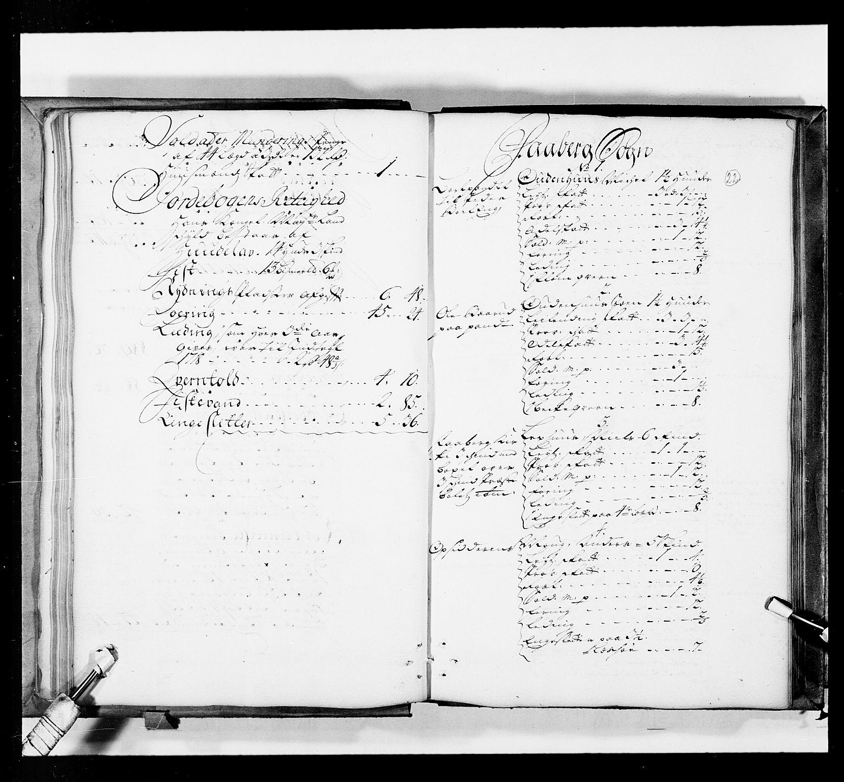 RA, Stattholderembetet 1572-1771, Ek/L0036: Jordebøker 1662-1720:, 1719, s. 21b-22a