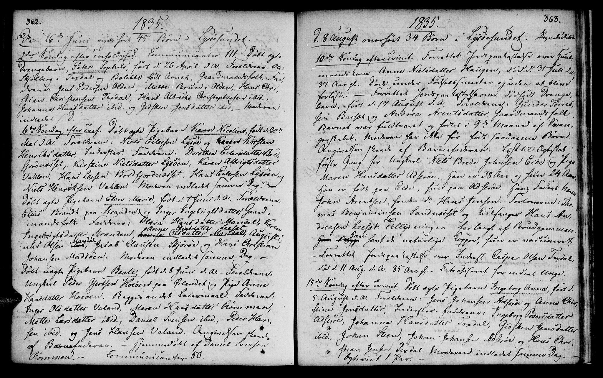 SAT, Ministerialprotokoller, klokkerbøker og fødselsregistre - Sør-Trøndelag, 655/L0674: Ministerialbok nr. 655A03, 1802-1826, s. 362-363