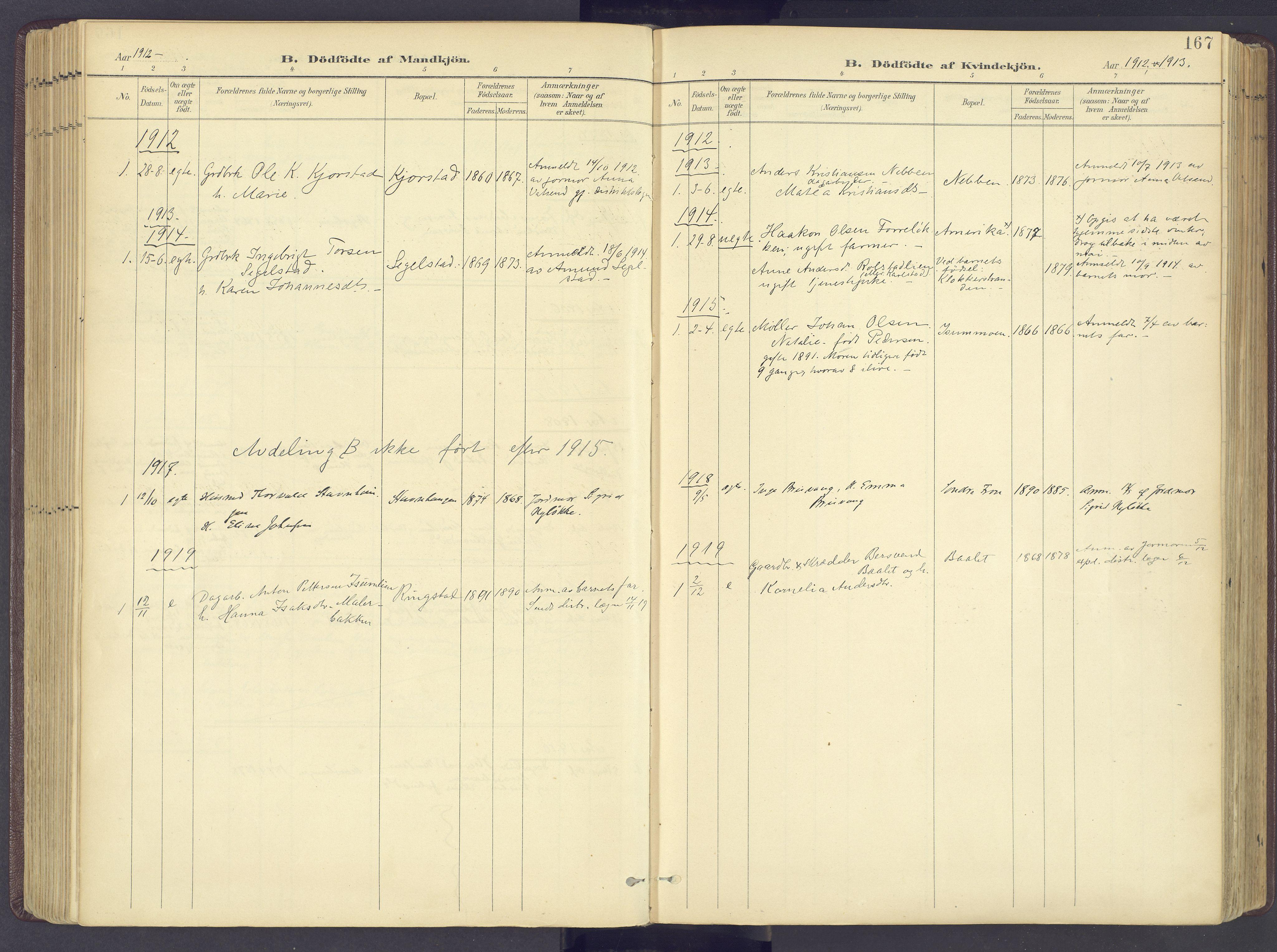 SAH, Sør-Fron prestekontor, H/Ha/Haa/L0004: Ministerialbok nr. 4, 1898-1919, s. 167