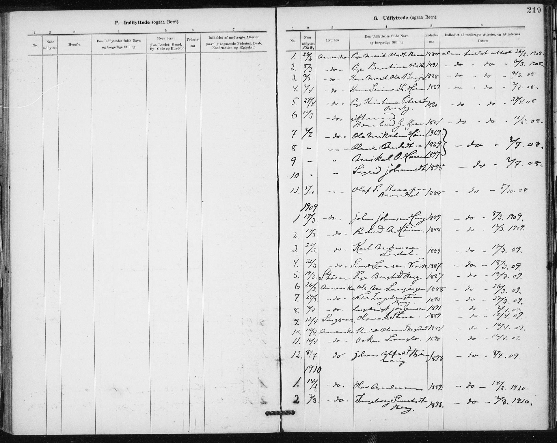 SAT, Ministerialprotokoller, klokkerbøker og fødselsregistre - Sør-Trøndelag, 612/L0381: Ministerialbok nr. 612A13, 1907-1923, s. 219