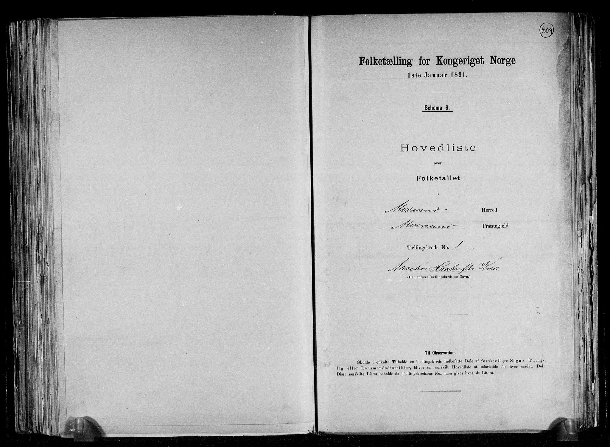 RA, Folketelling 1891 for 1257 Alversund herred, 1891, s. 5