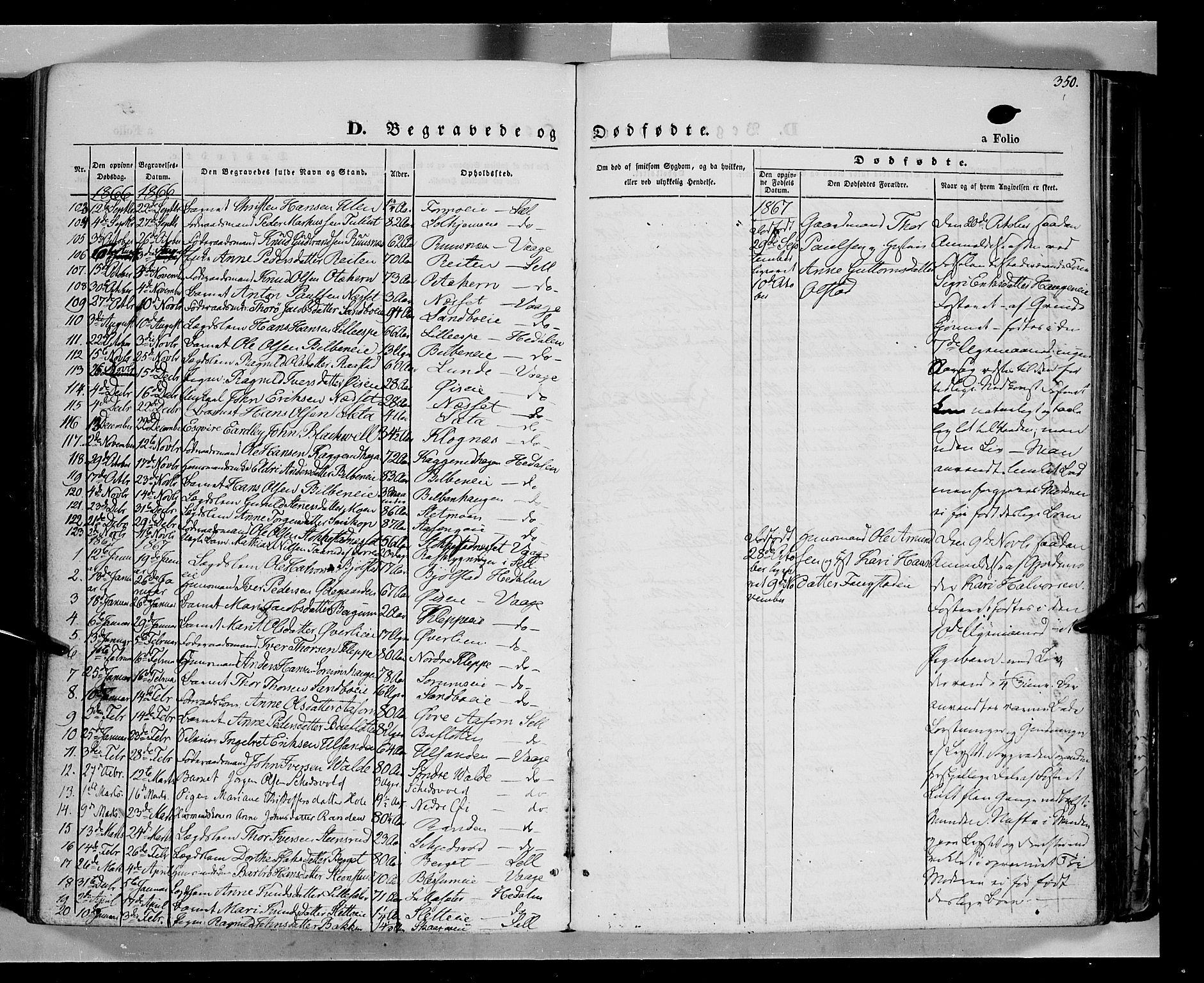 SAH, Vågå prestekontor, Ministerialbok nr. 6 /1, 1856-1872, s. 350
