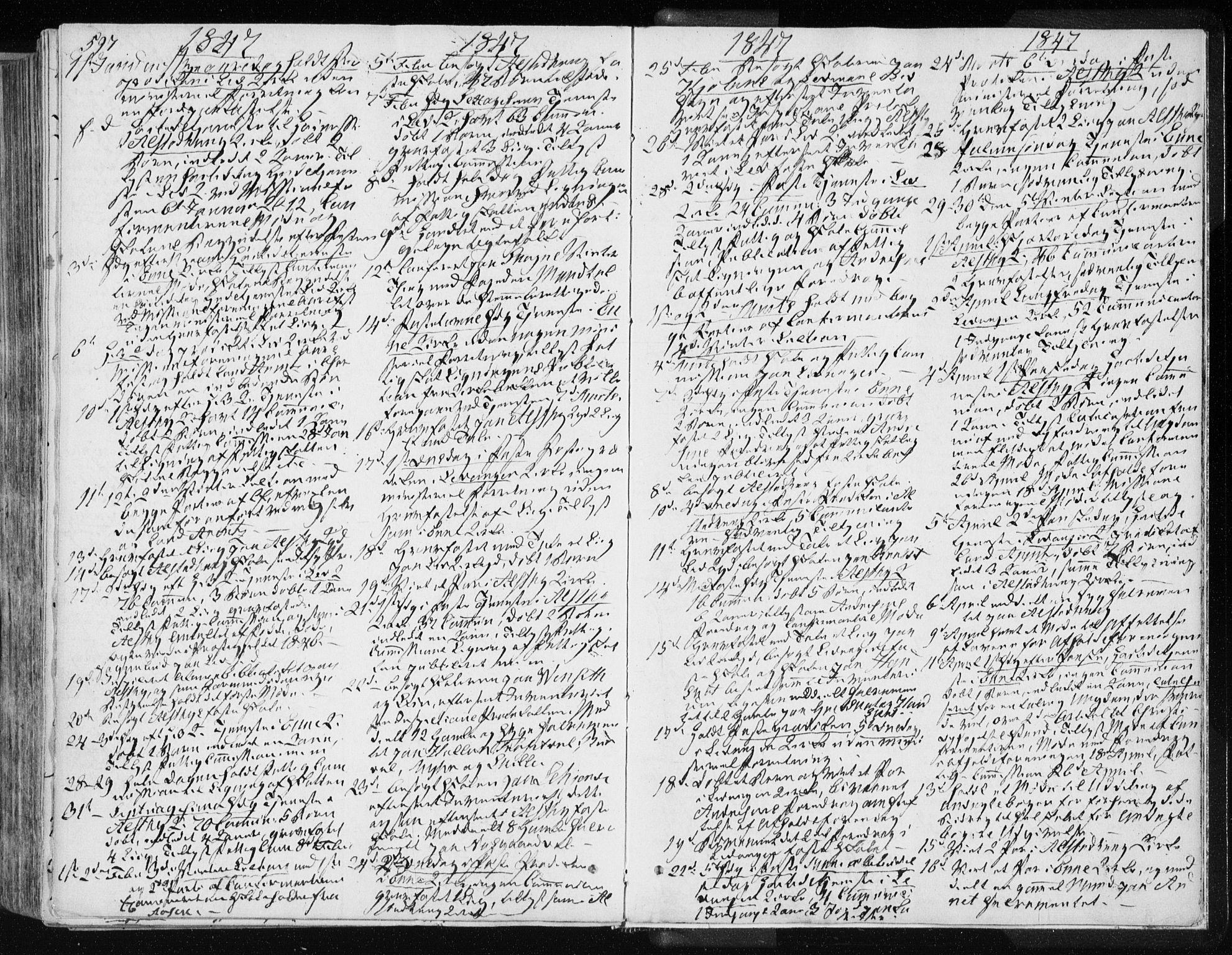 SAT, Ministerialprotokoller, klokkerbøker og fødselsregistre - Nord-Trøndelag, 717/L0154: Ministerialbok nr. 717A06 /1, 1836-1849, s. 597