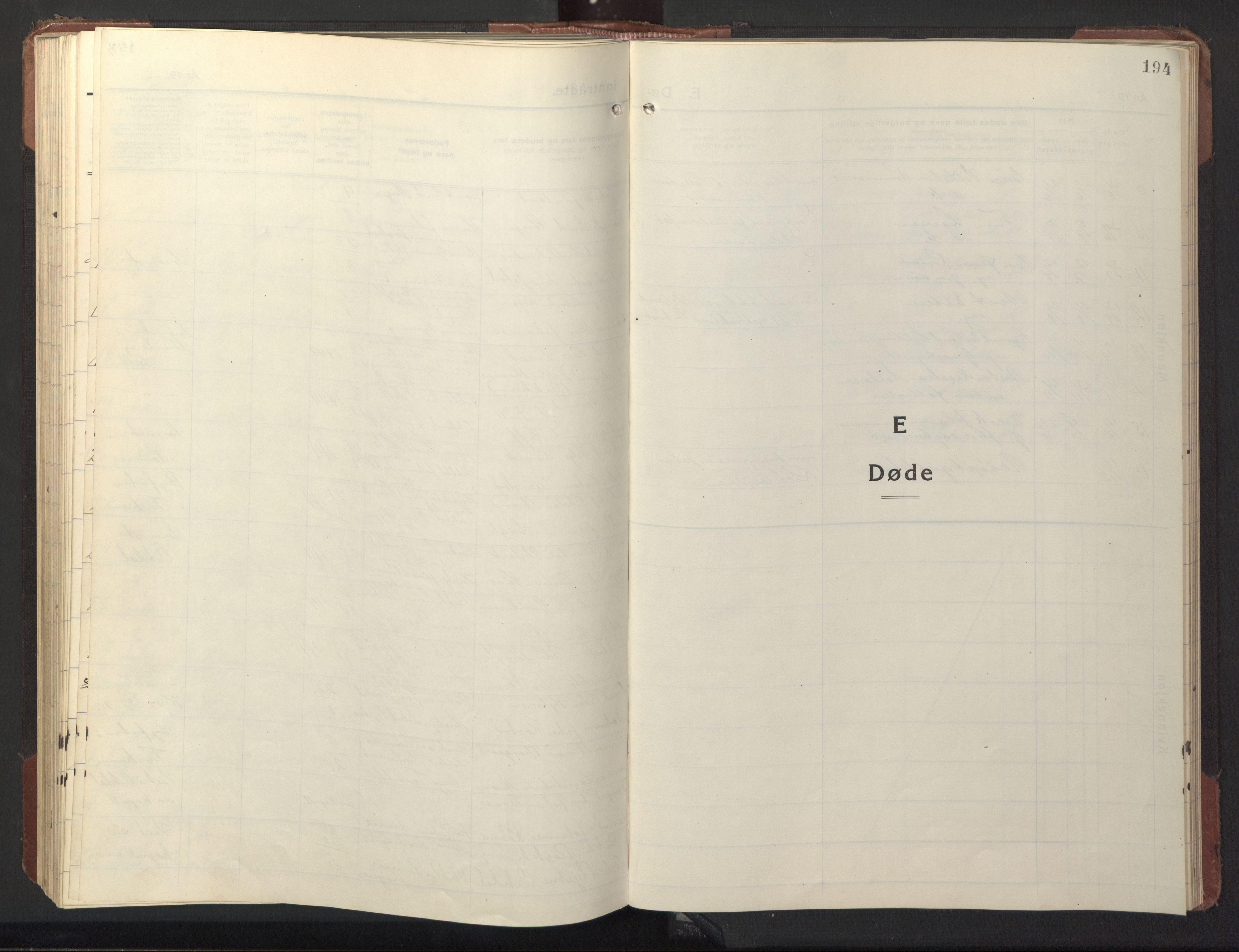 SAT, Ministerialprotokoller, klokkerbøker og fødselsregistre - Sør-Trøndelag, 669/L0832: Klokkerbok nr. 669C02, 1925-1953, s. 194