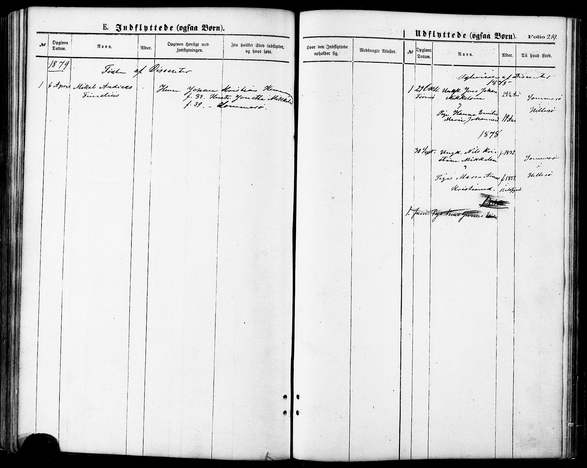 SATØ, Lenvik sokneprestembete, H/Ha: Ministerialbok nr. 10, 1873-1880, s. 219
