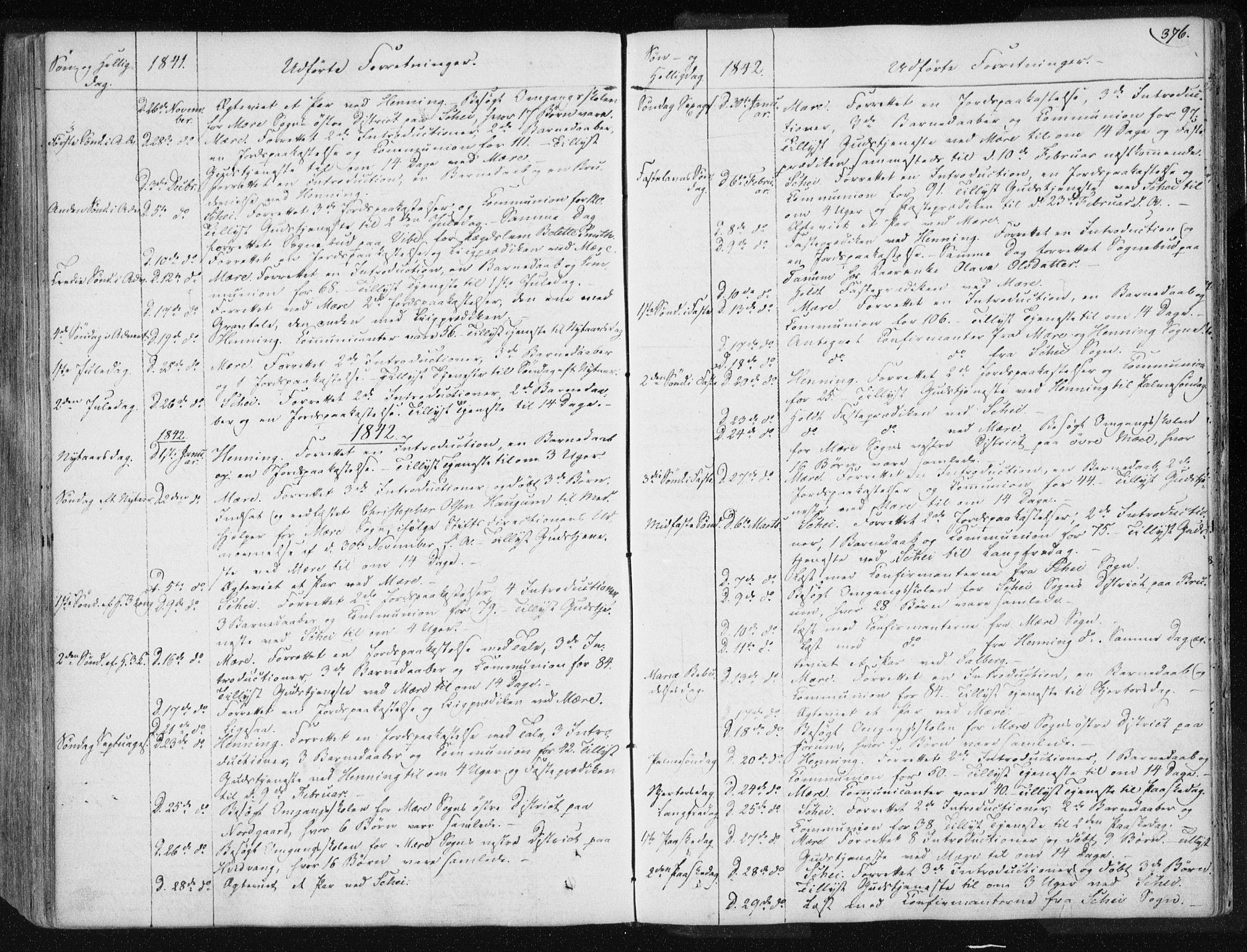 SAT, Ministerialprotokoller, klokkerbøker og fødselsregistre - Nord-Trøndelag, 735/L0339: Ministerialbok nr. 735A06 /1, 1836-1848, s. 376