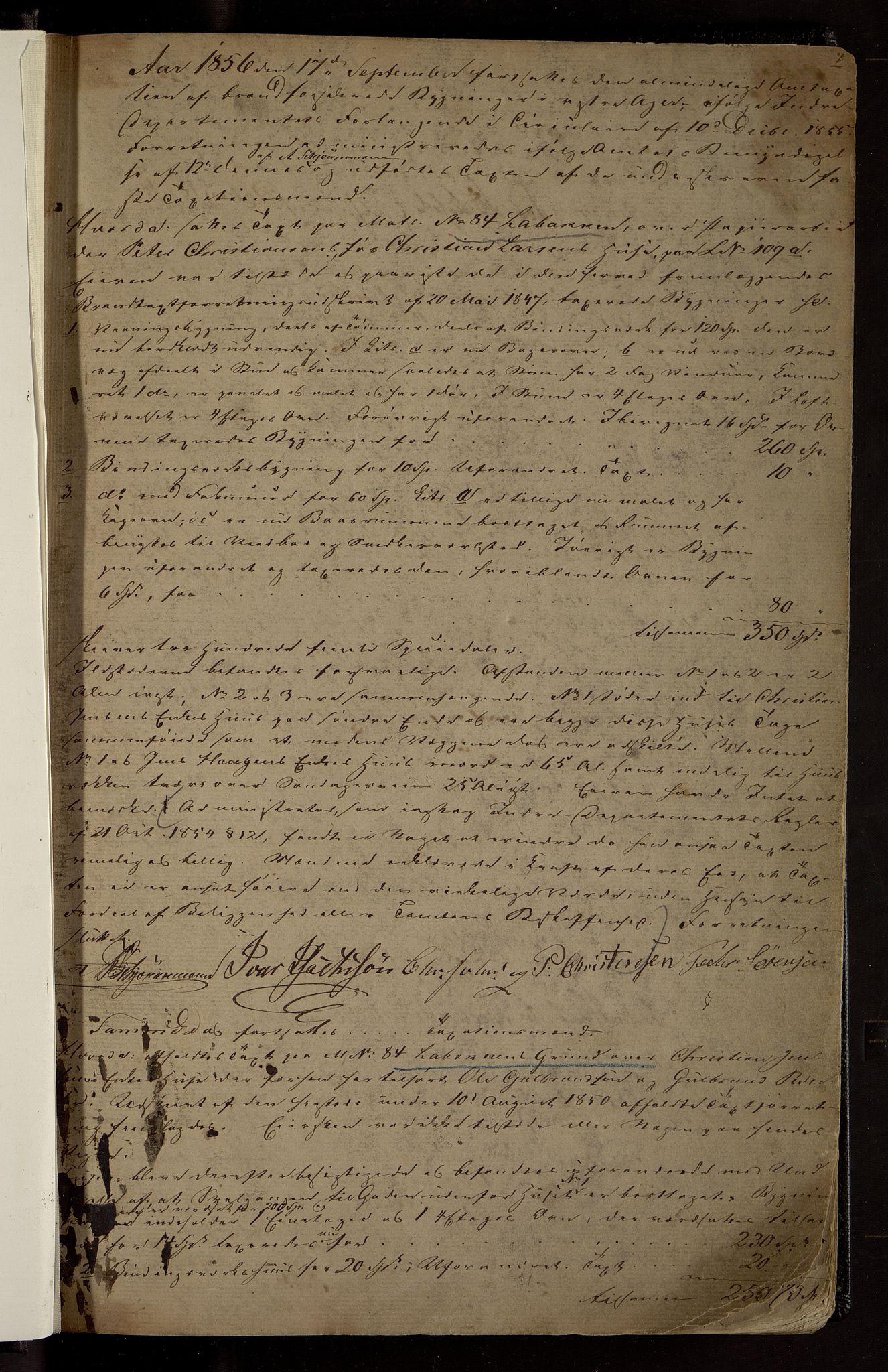 OBA, Lensmennene i Aker, F/Fa/L0001: Branntakstprotokoll, 1856-1867, s. 1