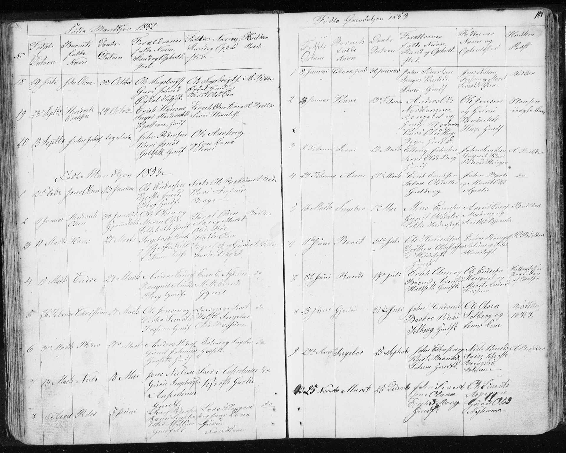 SAT, Ministerialprotokoller, klokkerbøker og fødselsregistre - Sør-Trøndelag, 689/L1043: Klokkerbok nr. 689C02, 1816-1892, s. 104