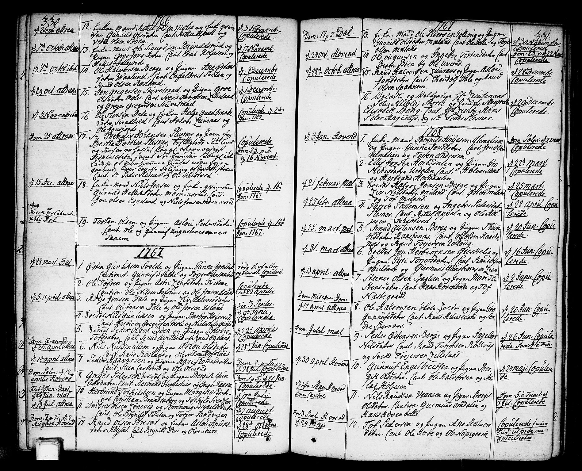 SAKO, Tinn kirkebøker, F/Fa/L0002: Ministerialbok nr. I 2, 1757-1810, s. 330-331