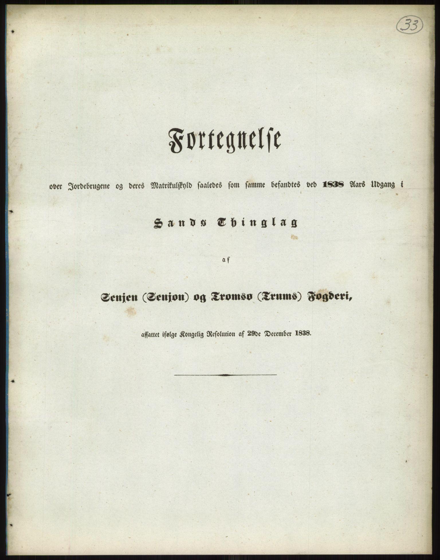 RA, 1838-matrikkelen (publikasjon)*, 1838, s. 33a