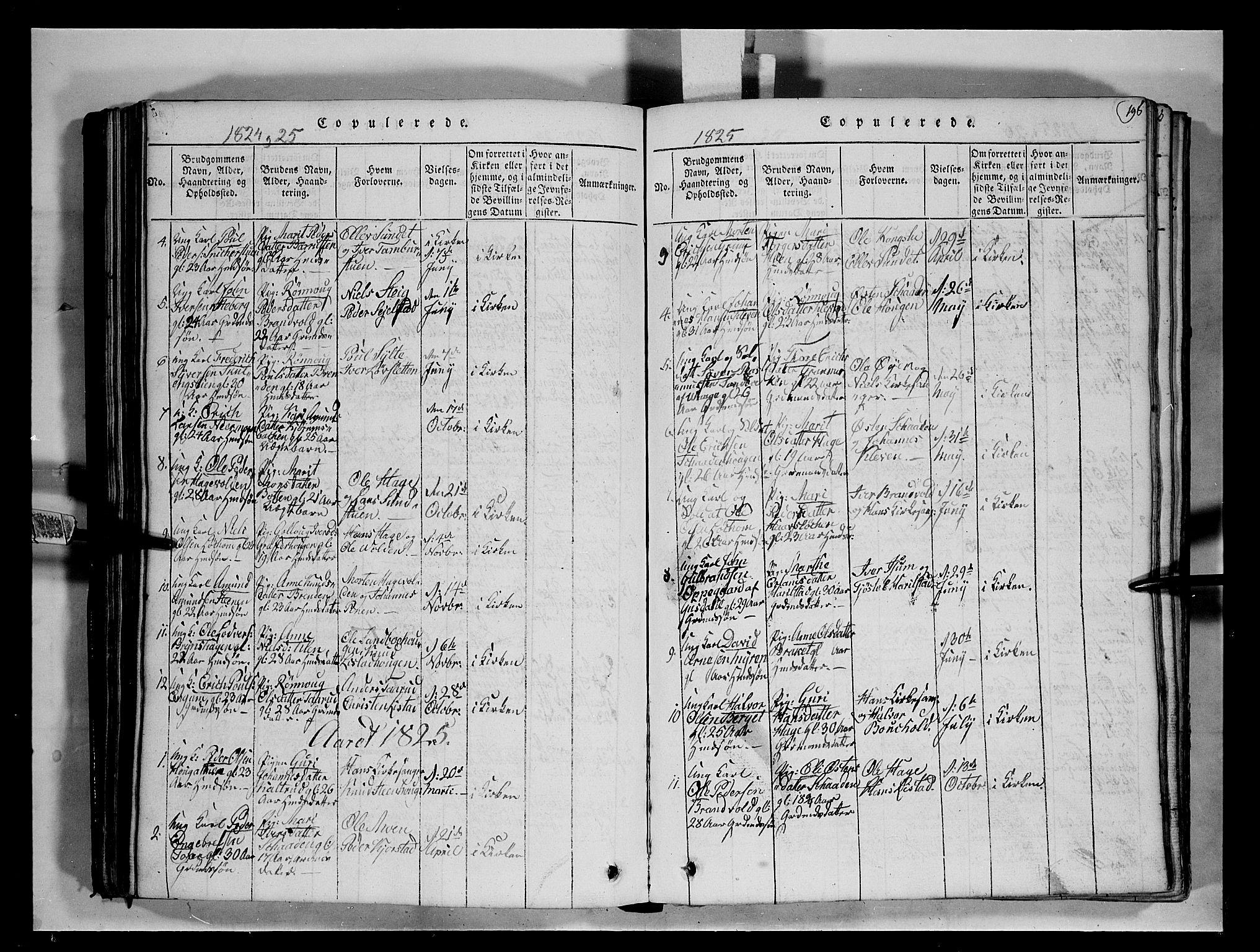 SAH, Fron prestekontor, H/Ha/Hab/L0004: Klokkerbok nr. 4, 1816-1850, s. 198
