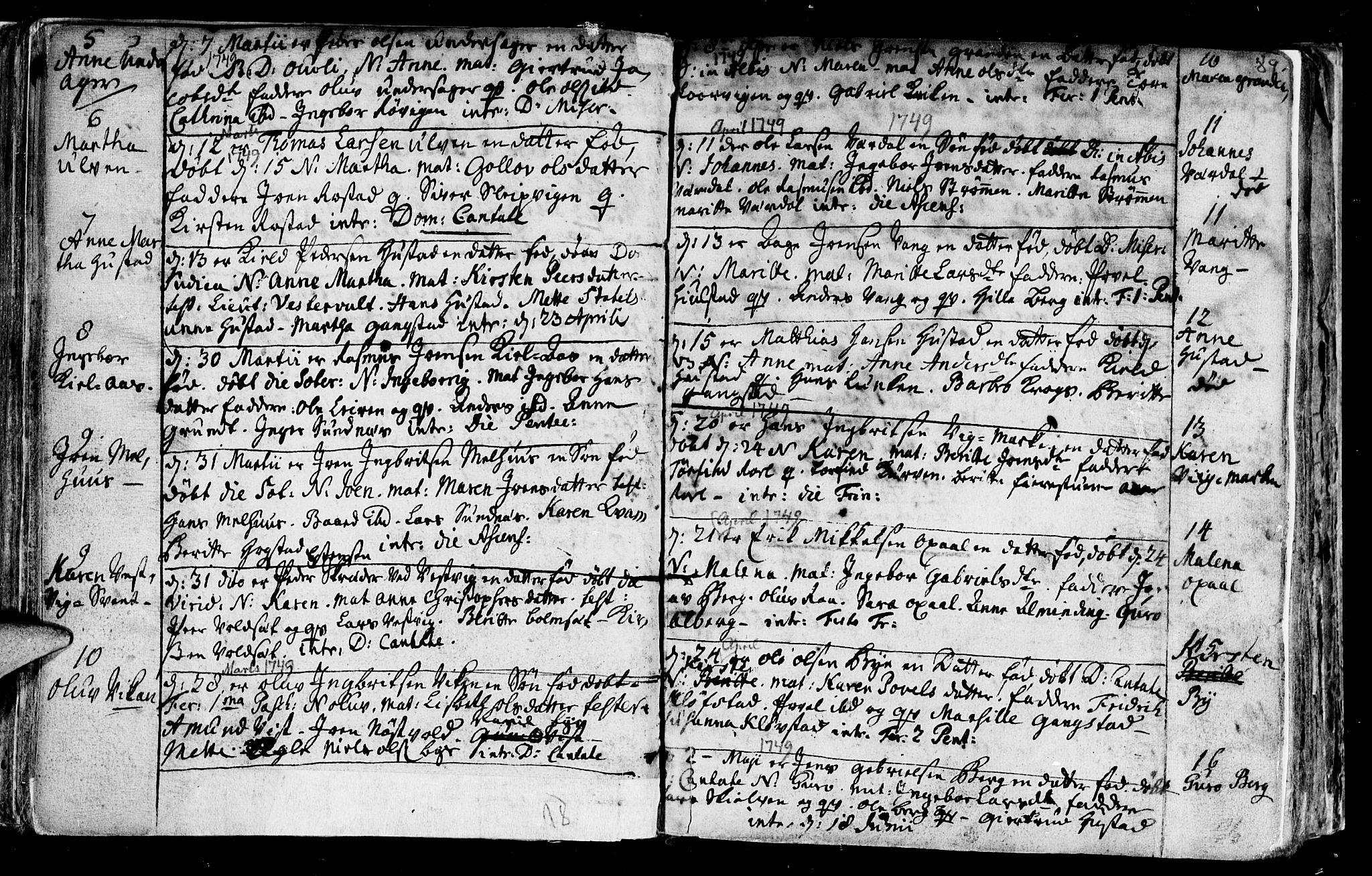 SAT, Ministerialprotokoller, klokkerbøker og fødselsregistre - Nord-Trøndelag, 730/L0272: Ministerialbok nr. 730A01, 1733-1764, s. 89
