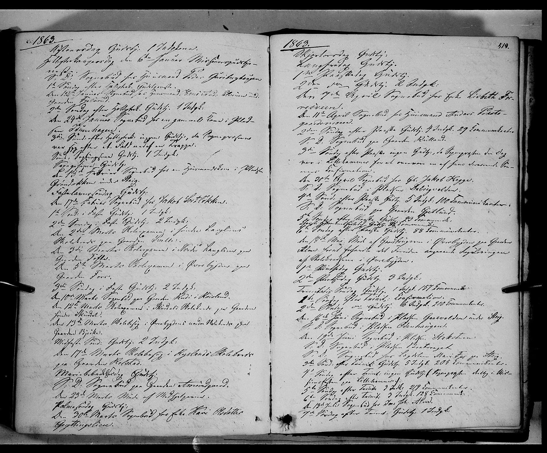 SAH, Sør-Fron prestekontor, H/Ha/Haa/L0001: Ministerialbok nr. 1, 1849-1863, s. 519