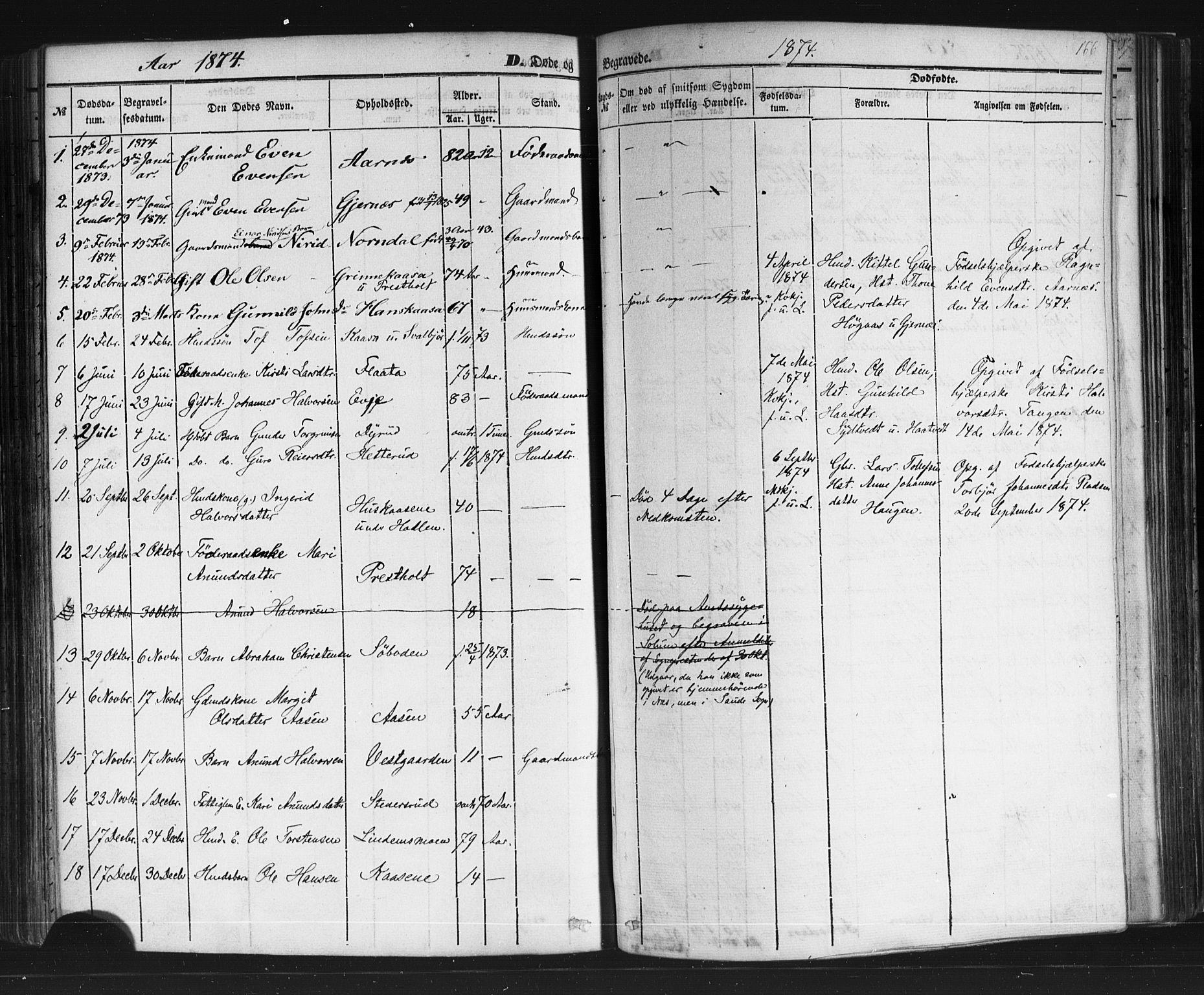 SAKO, Sauherad kirkebøker, F/Fb/L0001: Ministerialbok nr. II 1, 1851-1877, s. 166