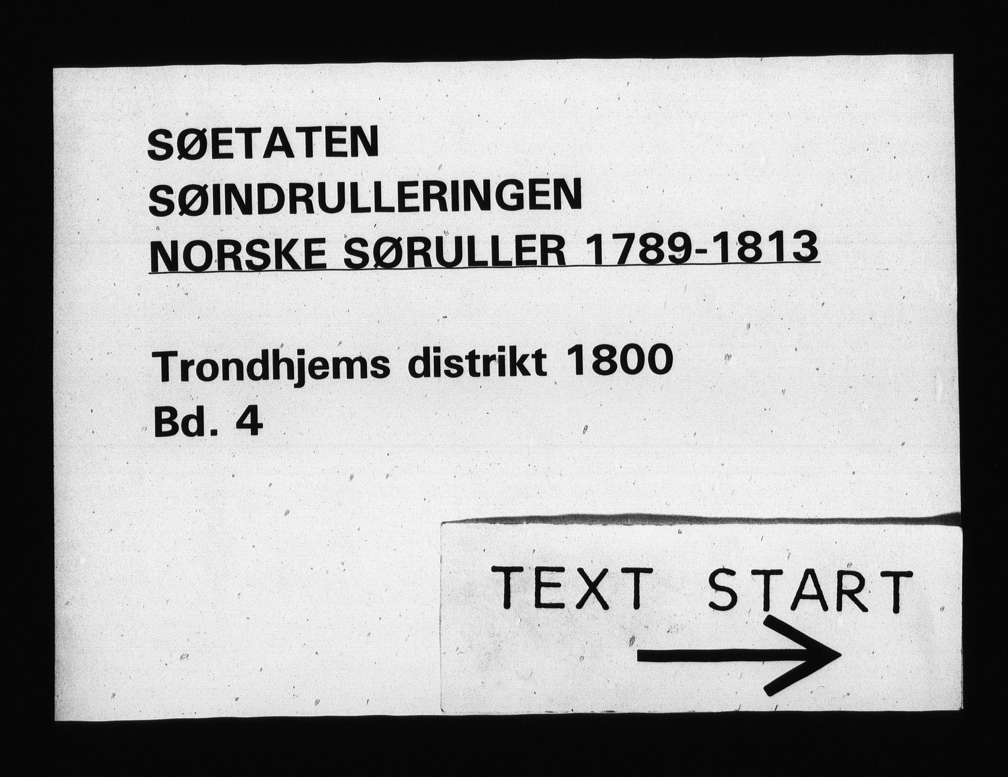RA, Sjøetaten, F/L0321: Trondheim distrikt, bind 4, 1800