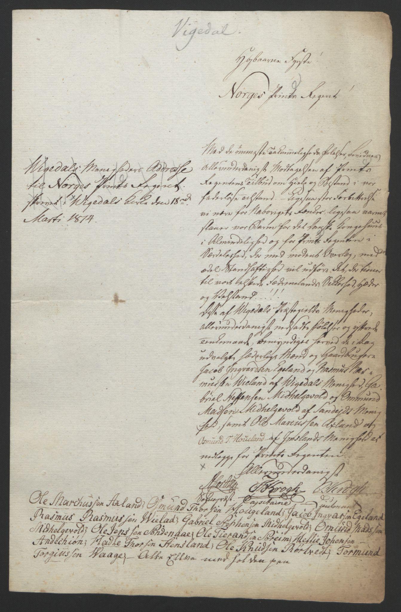 RA, Statsrådssekretariatet, D/Db/L0008: Fullmakter for Eidsvollsrepresentantene i 1814. , 1814, s. 260
