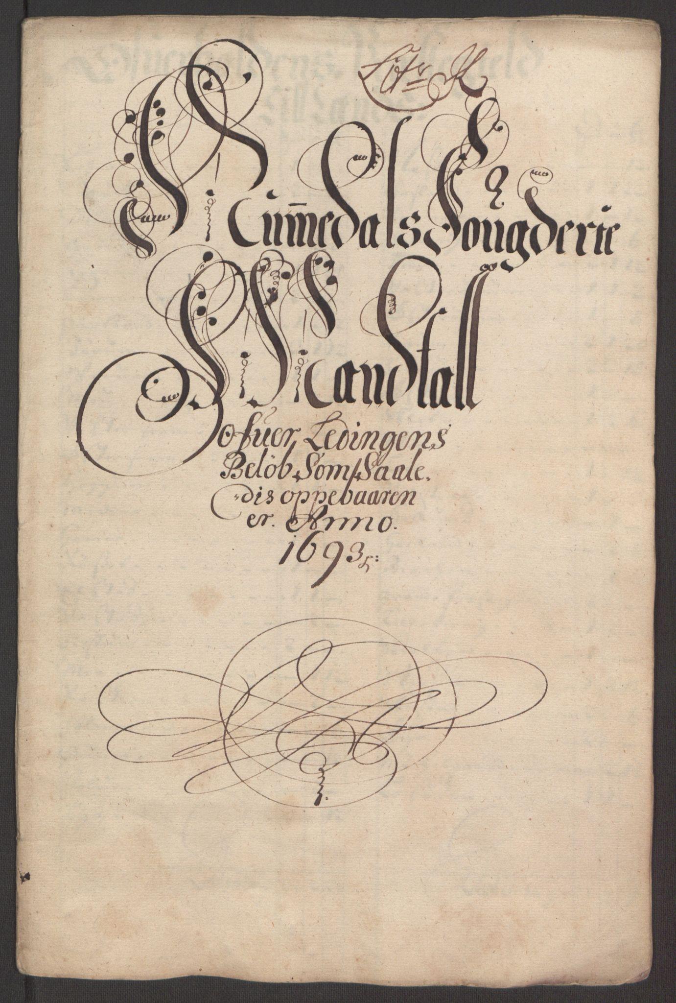 RA, Rentekammeret inntil 1814, Reviderte regnskaper, Fogderegnskap, R64/L4424: Fogderegnskap Namdal, 1692-1695, s. 295
