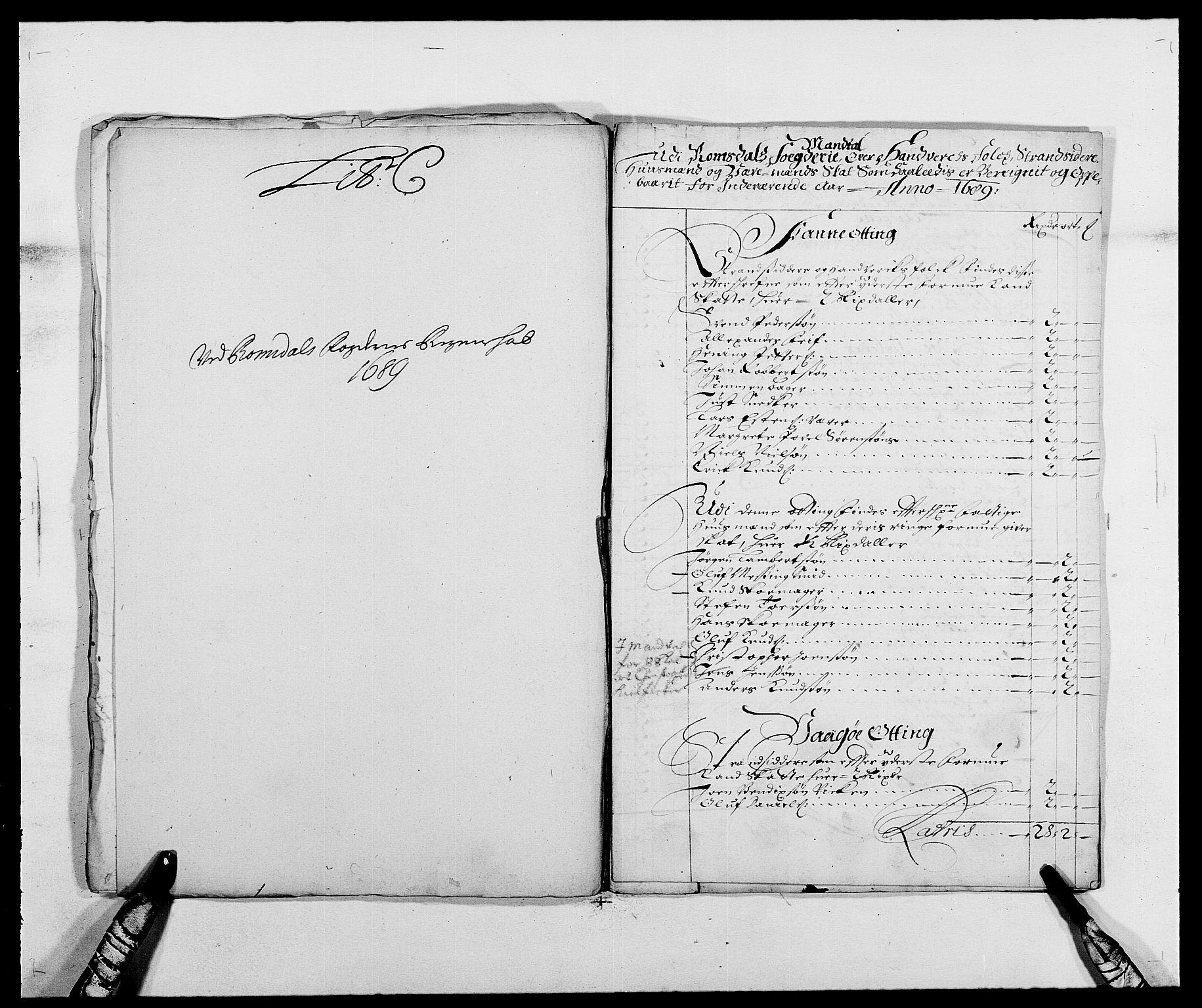 RA, Rentekammeret inntil 1814, Reviderte regnskaper, Fogderegnskap, R55/L3648: Fogderegnskap Romsdal, 1687-1689, s. 321