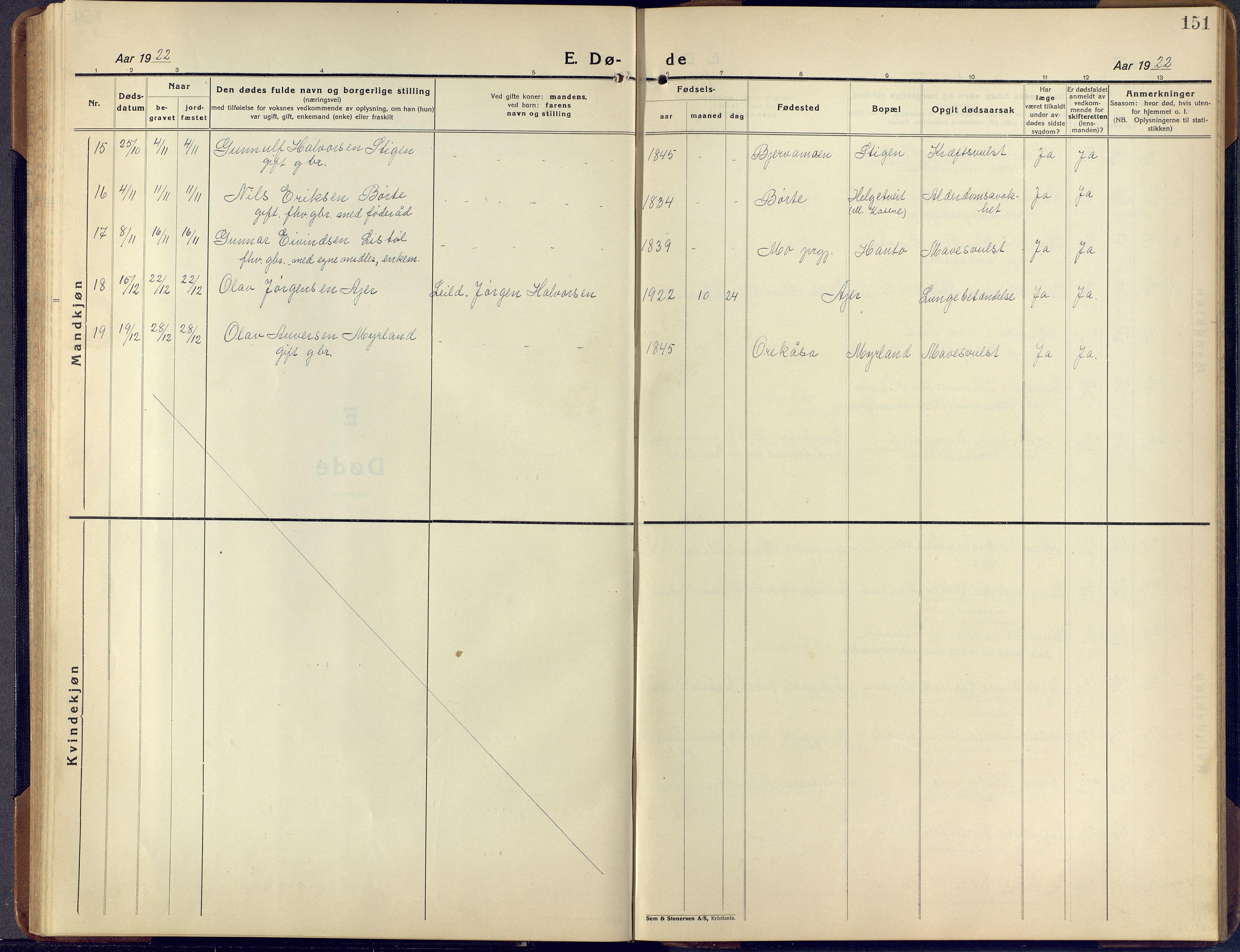SAKO, Lunde kirkebøker, F/Fa/L0006: Ministerialbok nr. I 6, 1922-1940, s. 151