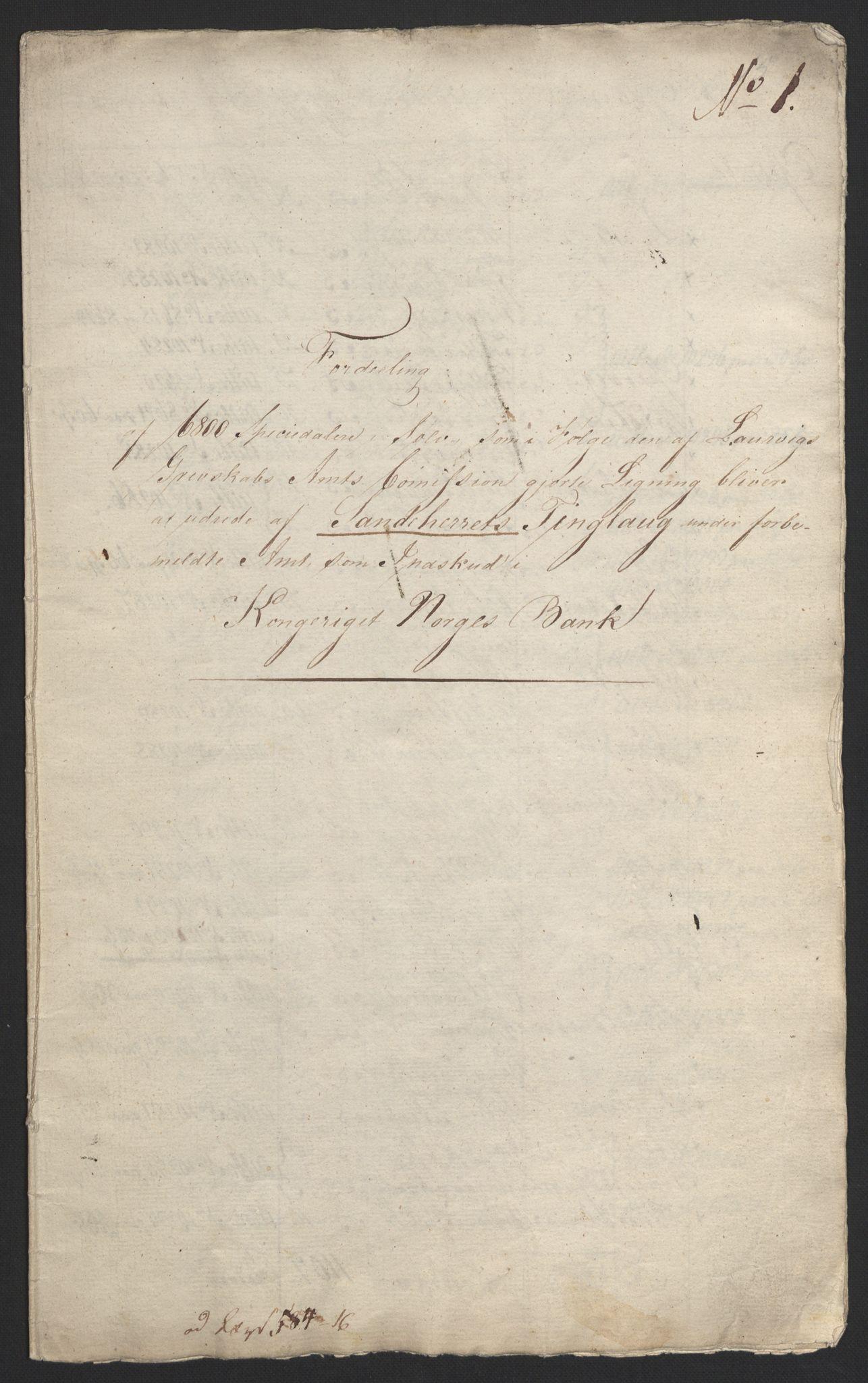 NOBA, Norges Bank/Sølvskatten 1816*, 1816-1824, s. 8