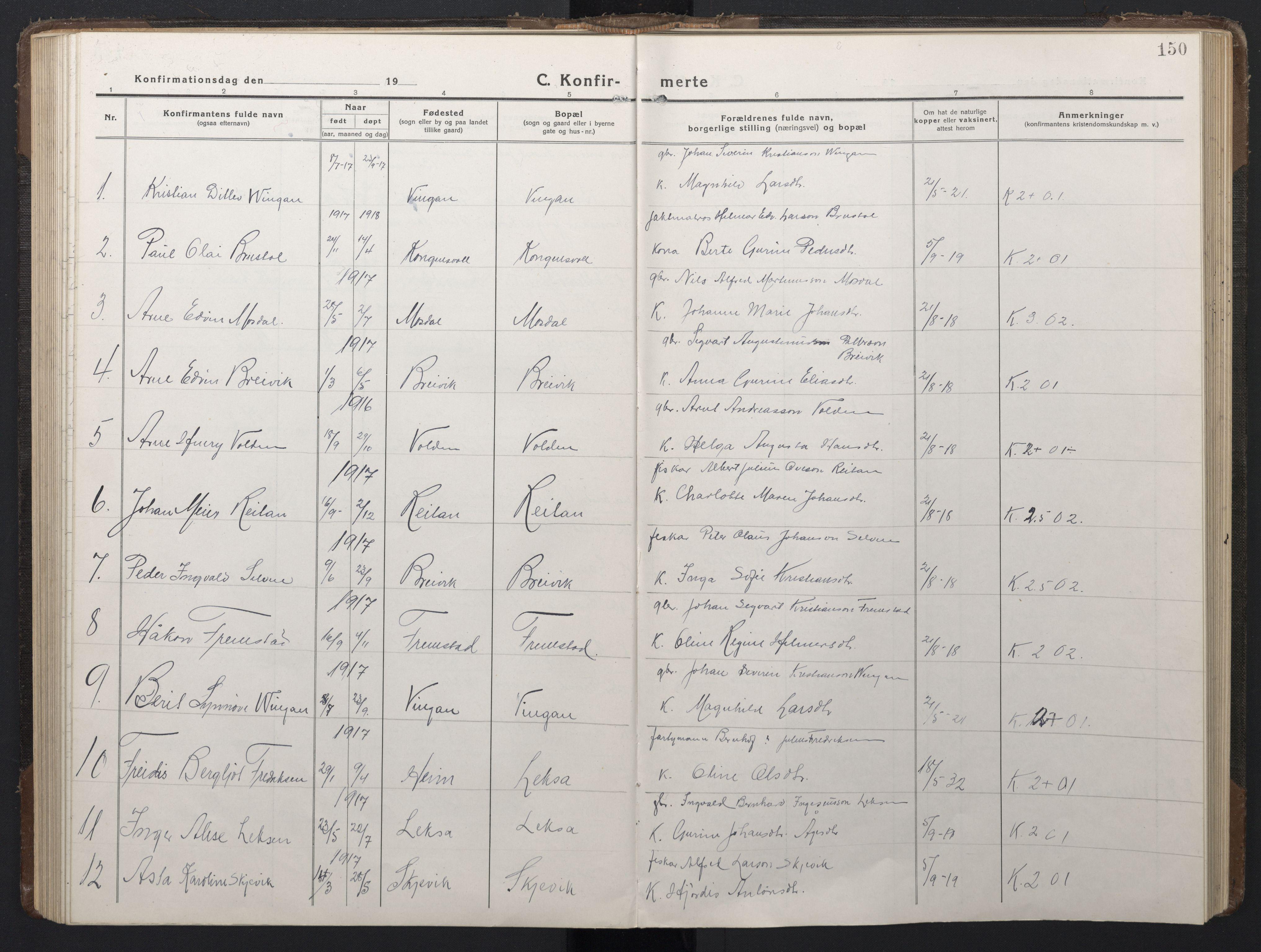 SAT, Ministerialprotokoller, klokkerbøker og fødselsregistre - Sør-Trøndelag, 662/L0758: Klokkerbok nr. 662C03, 1918-1948, s. 150
