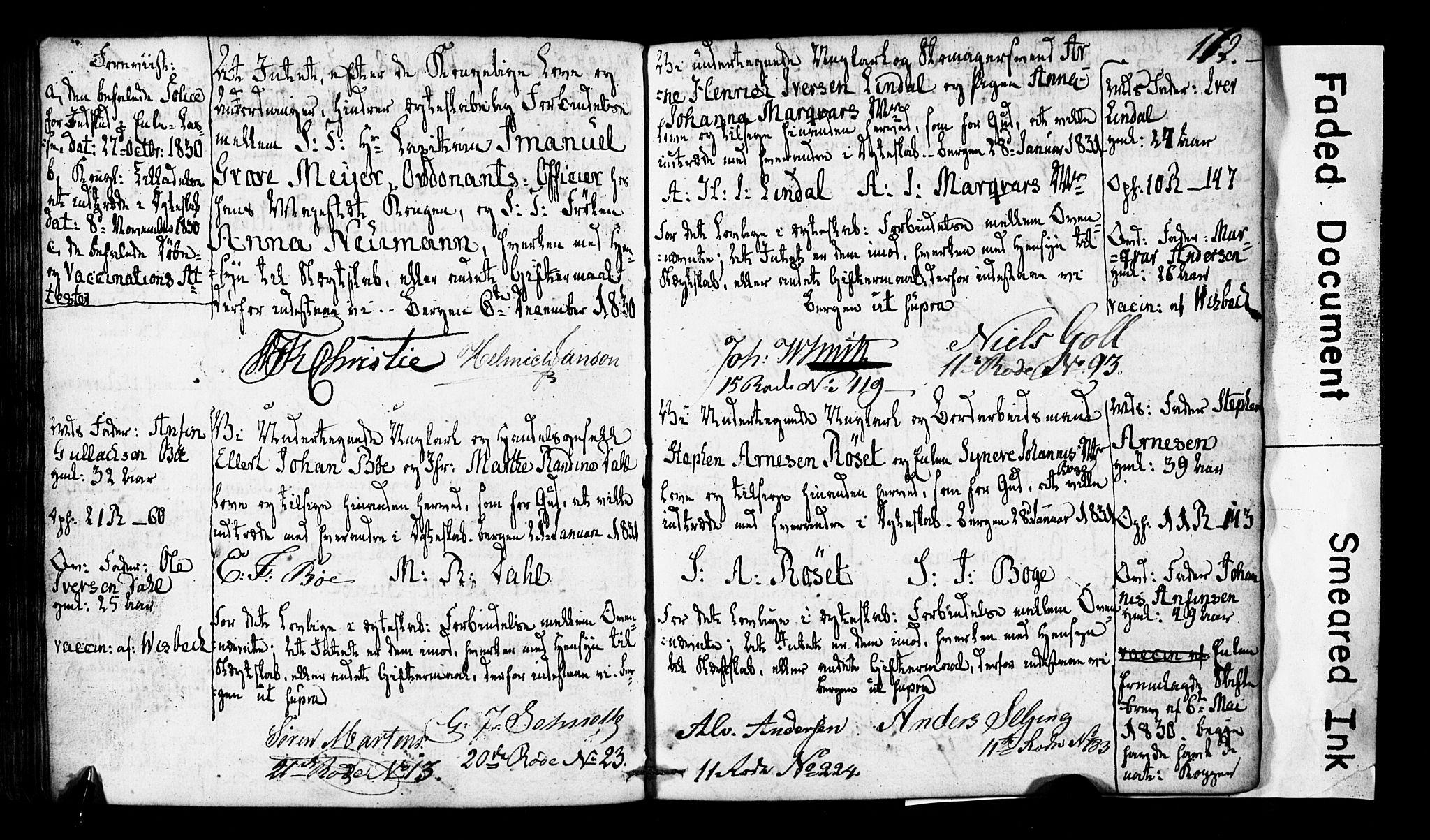 SAB, Domkirken Sokneprestembete, Forlovererklæringer nr. II.5.2, 1820-1832, s. 172