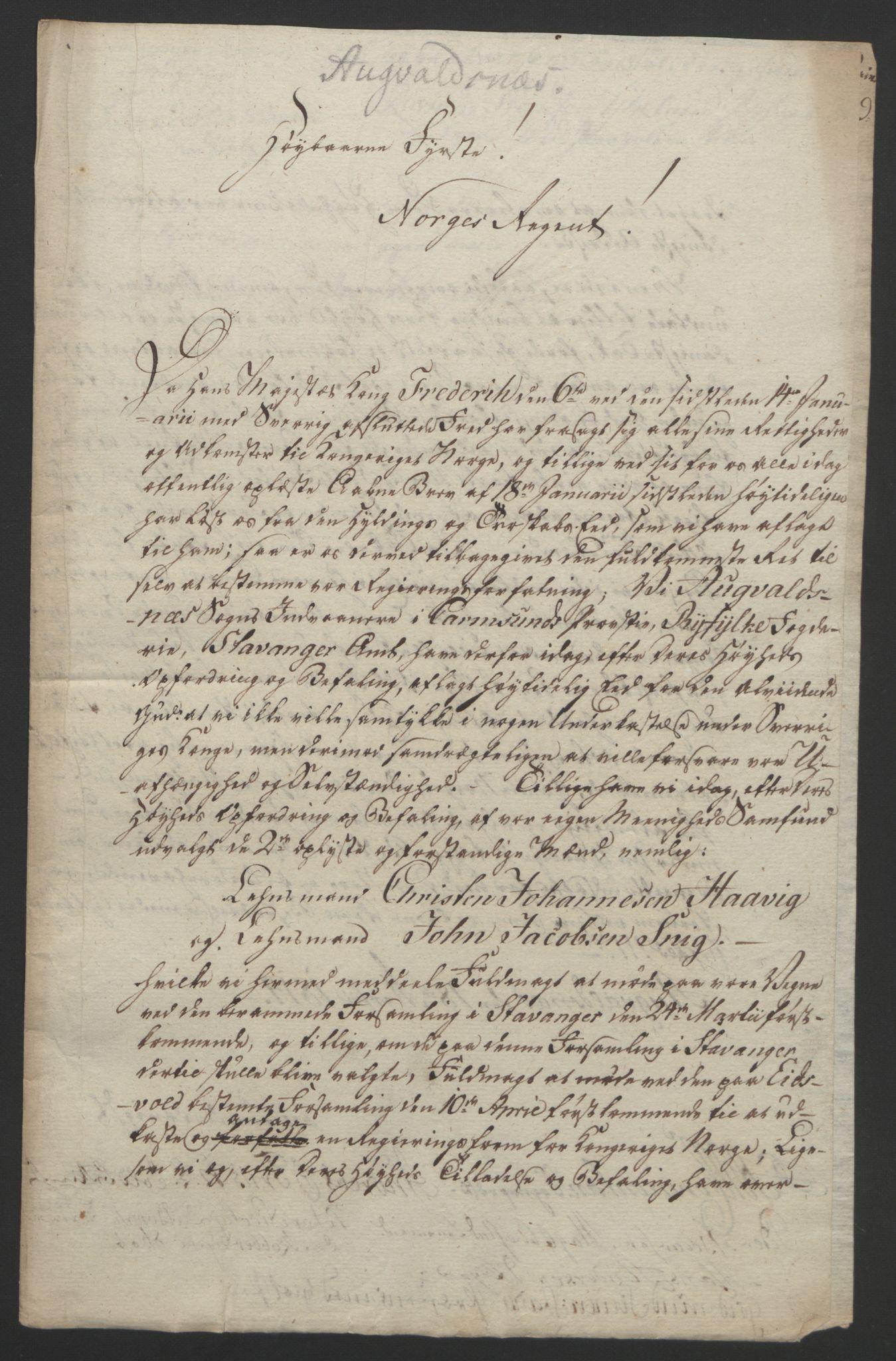 RA, Statsrådssekretariatet, D/Db/L0008: Fullmakter for Eidsvollsrepresentantene i 1814. , 1814, s. 202