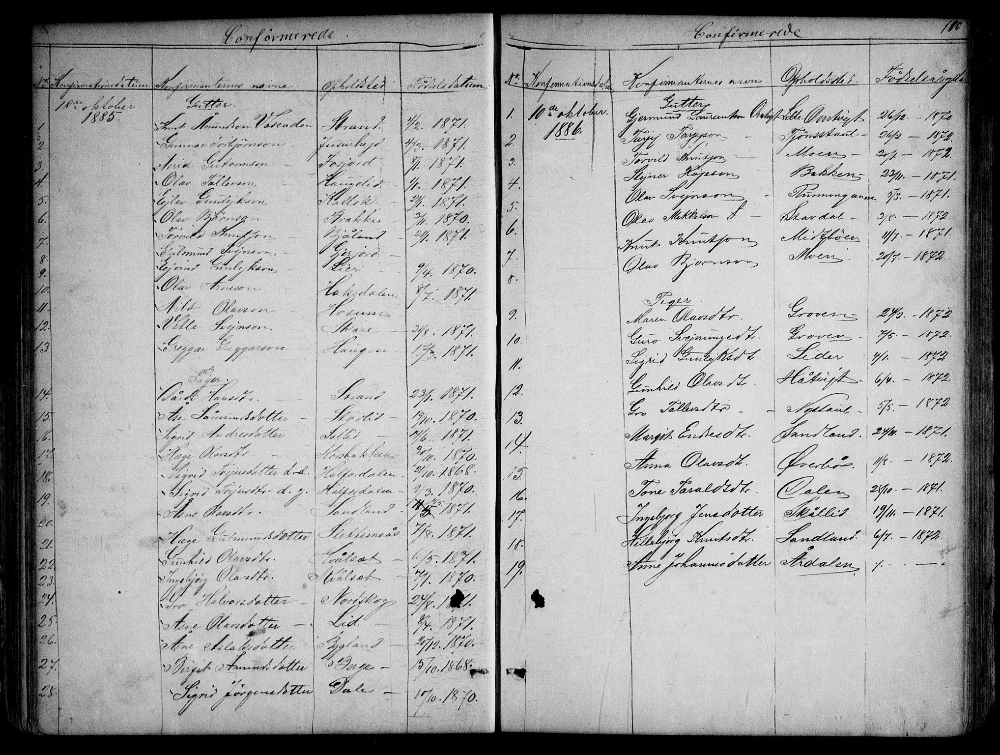 SAKO, Kviteseid kirkebøker, G/Gb/L0002: Klokkerbok nr. II 2, 1850-1892, s. 110