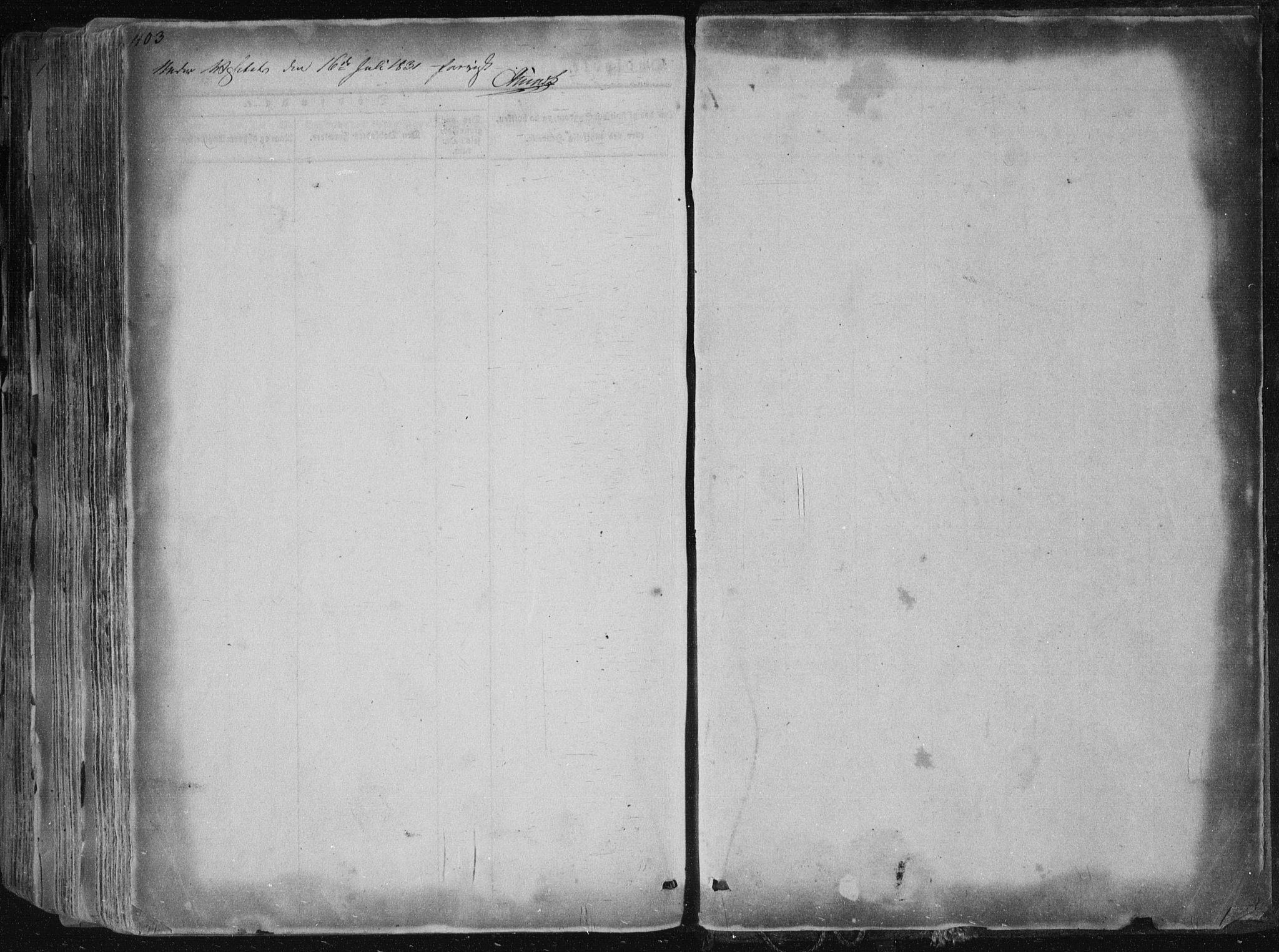 SAKO, Sannidal kirkebøker, F/Fa/L0006: Ministerialbok nr. 6, 1831-1847, s. 403