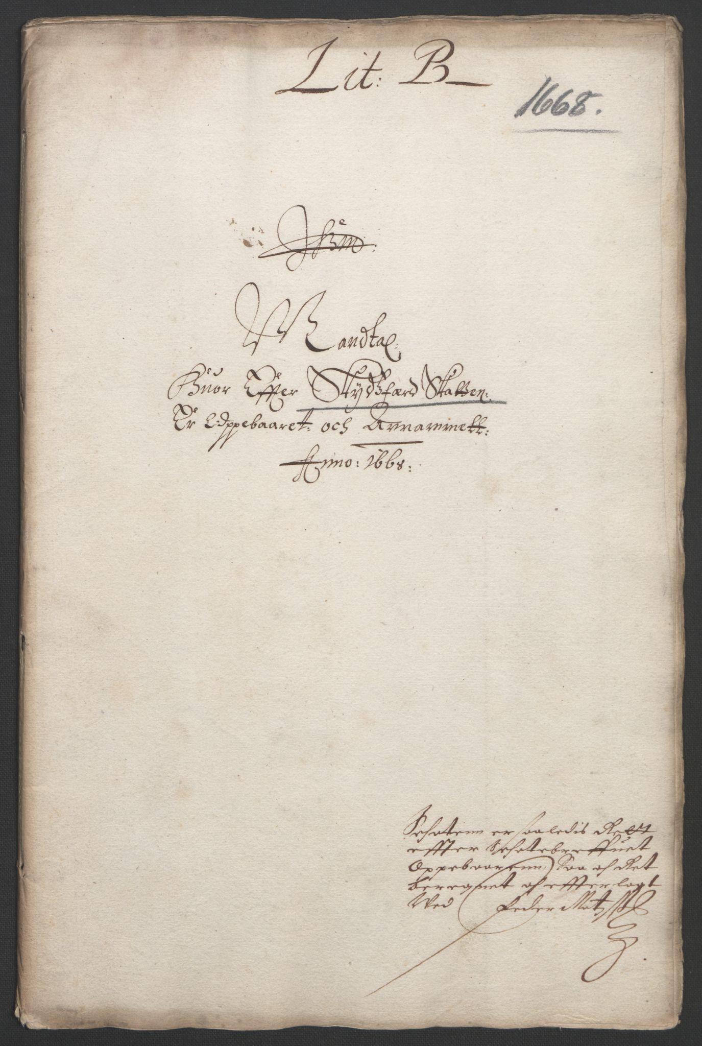 RA, Rentekammeret inntil 1814, Reviderte regnskaper, Fogderegnskap, R33/L1964: Fogderegnskap Larvik grevskap, 1665-1668, s. 143