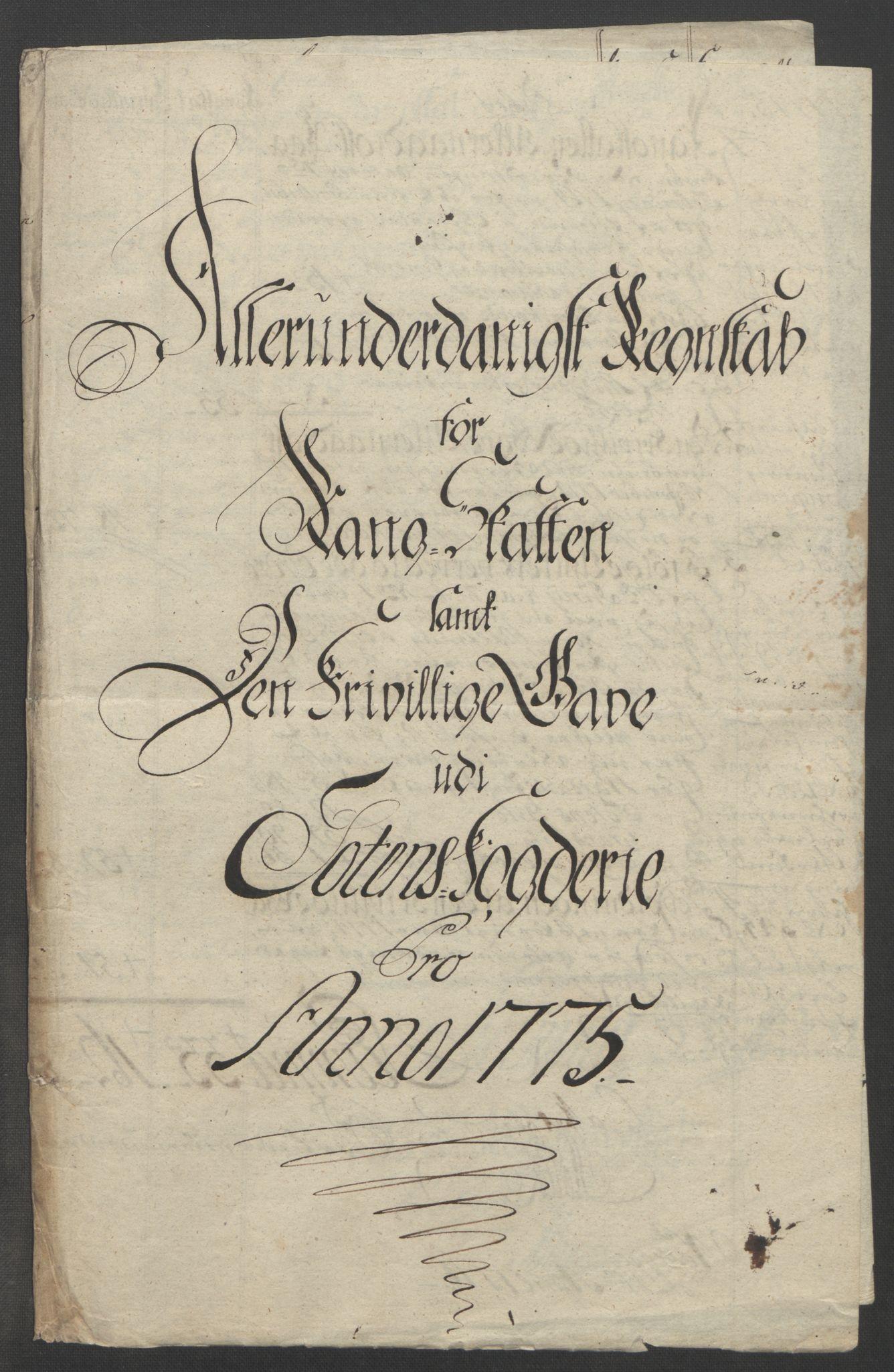 RA, Rentekammeret inntil 1814, Reviderte regnskaper, Fogderegnskap, R19/L1399: Fogderegnskap Toten, Hadeland og Vardal, 1762-1783, s. 366