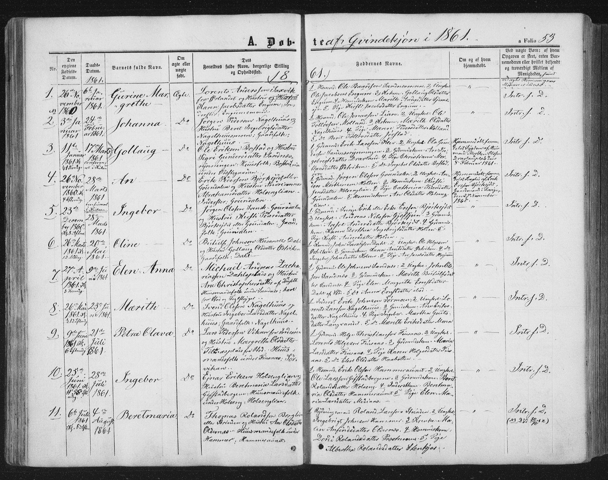 SAT, Ministerialprotokoller, klokkerbøker og fødselsregistre - Nord-Trøndelag, 749/L0472: Ministerialbok nr. 749A06, 1857-1873, s. 53