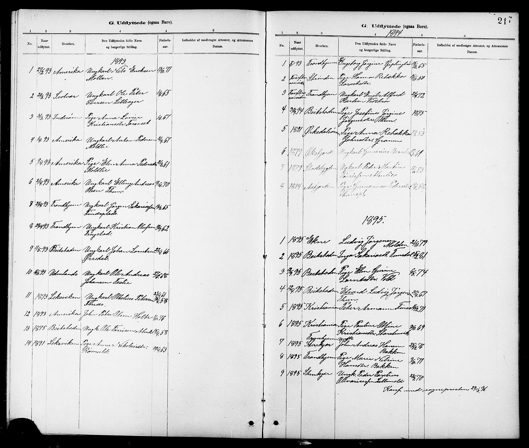 SAT, Ministerialprotokoller, klokkerbøker og fødselsregistre - Nord-Trøndelag, 744/L0423: Klokkerbok nr. 744C02, 1886-1905, s. 217