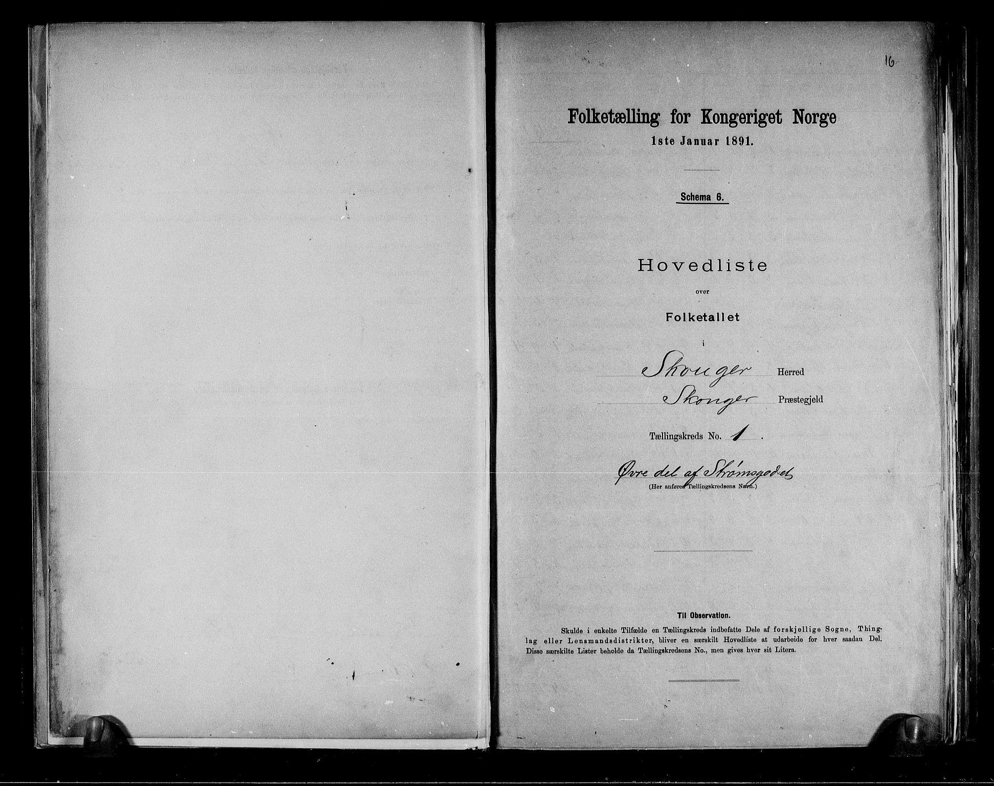 RA, Folketelling 1891 for 0712 Skoger herred, 1891, s. 4