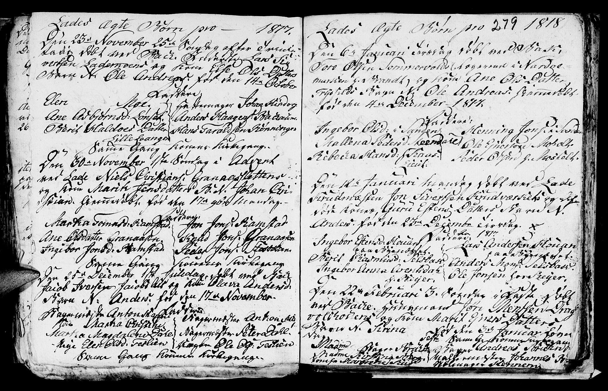 SAT, Ministerialprotokoller, klokkerbøker og fødselsregistre - Sør-Trøndelag, 606/L0305: Klokkerbok nr. 606C01, 1757-1819, s. 279
