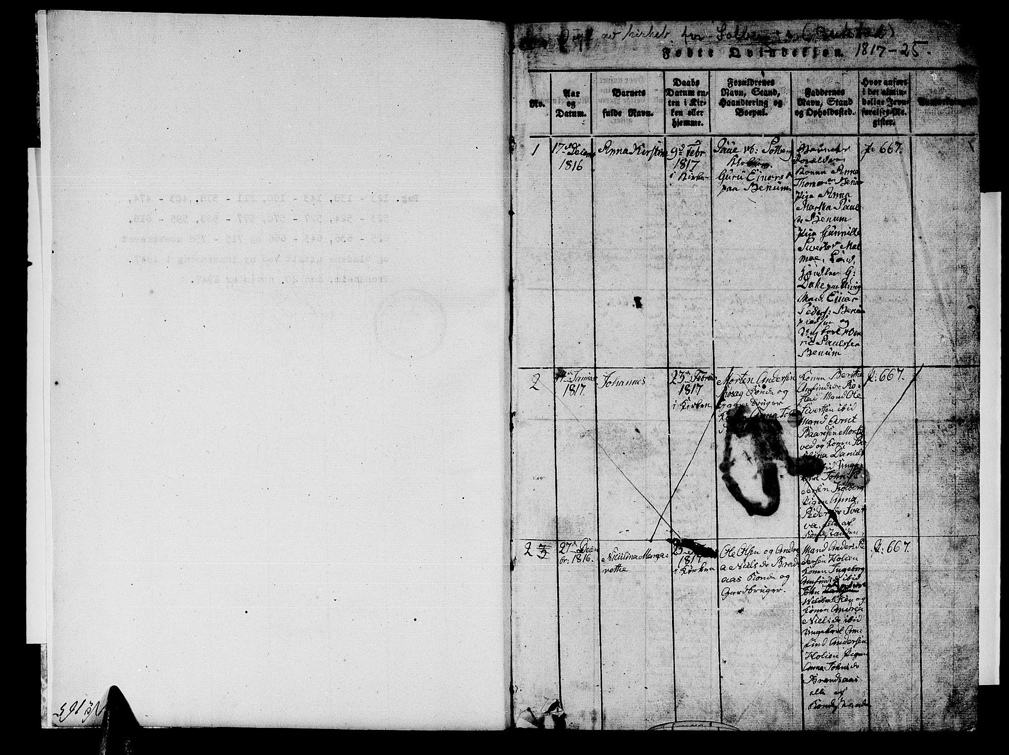 SAT, Ministerialprotokoller, klokkerbøker og fødselsregistre - Nord-Trøndelag, 741/L0400: Klokkerbok nr. 741C01, 1817-1825, s. 0-1