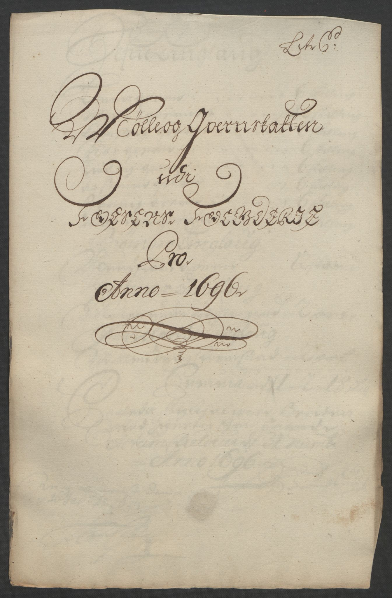 RA, Rentekammeret inntil 1814, Reviderte regnskaper, Fogderegnskap, R57/L3851: Fogderegnskap Fosen, 1695-1696, s. 247