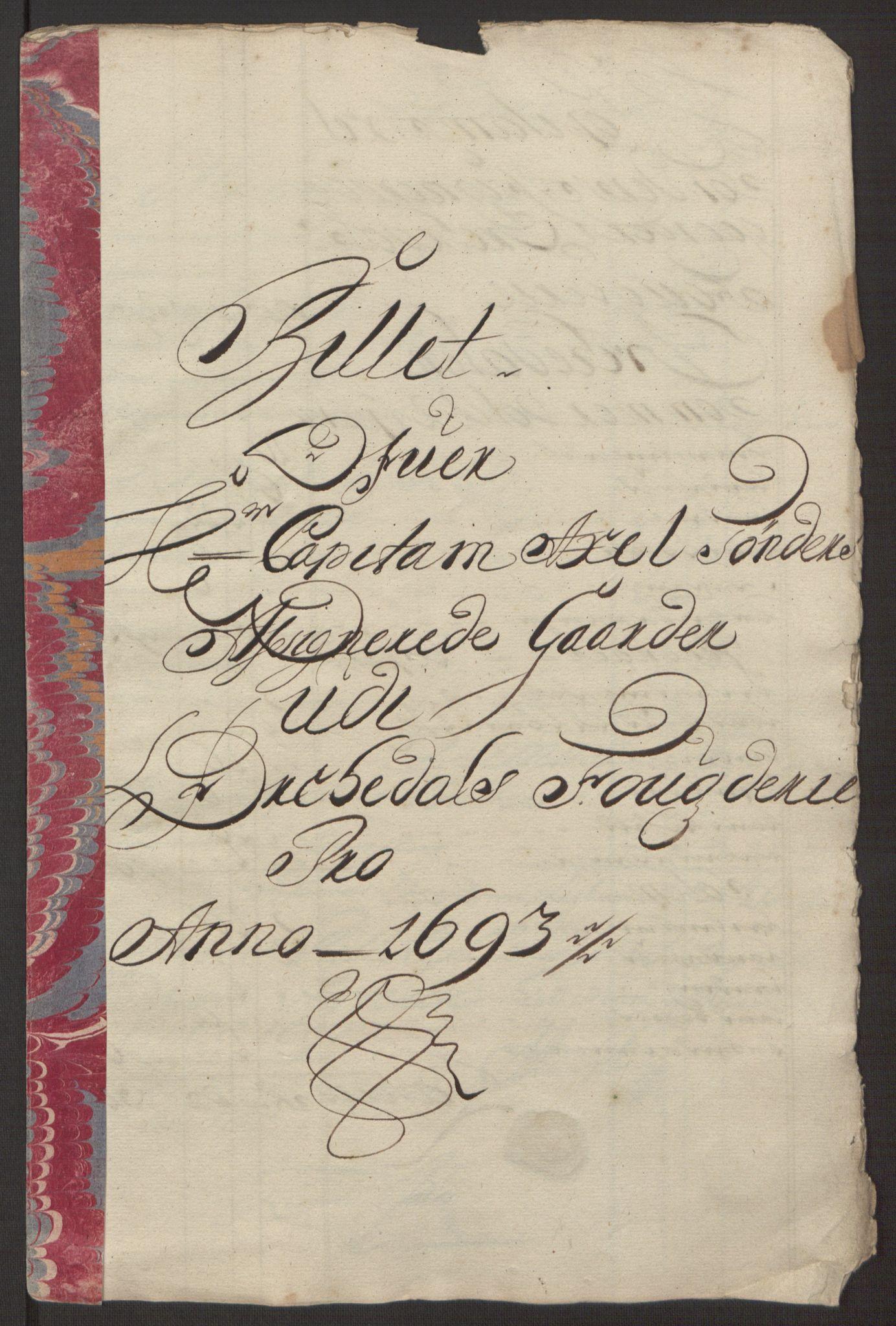 RA, Rentekammeret inntil 1814, Reviderte regnskaper, Fogderegnskap, R58/L3938: Fogderegnskap Orkdal, 1693, s. 210
