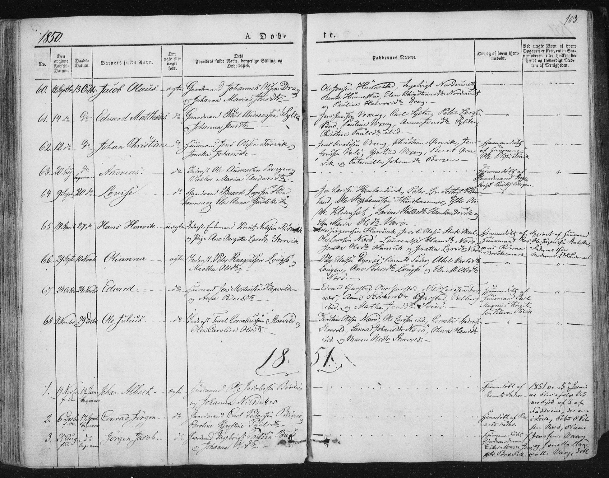 SAT, Ministerialprotokoller, klokkerbøker og fødselsregistre - Nord-Trøndelag, 784/L0669: Ministerialbok nr. 784A04, 1829-1859, s. 103